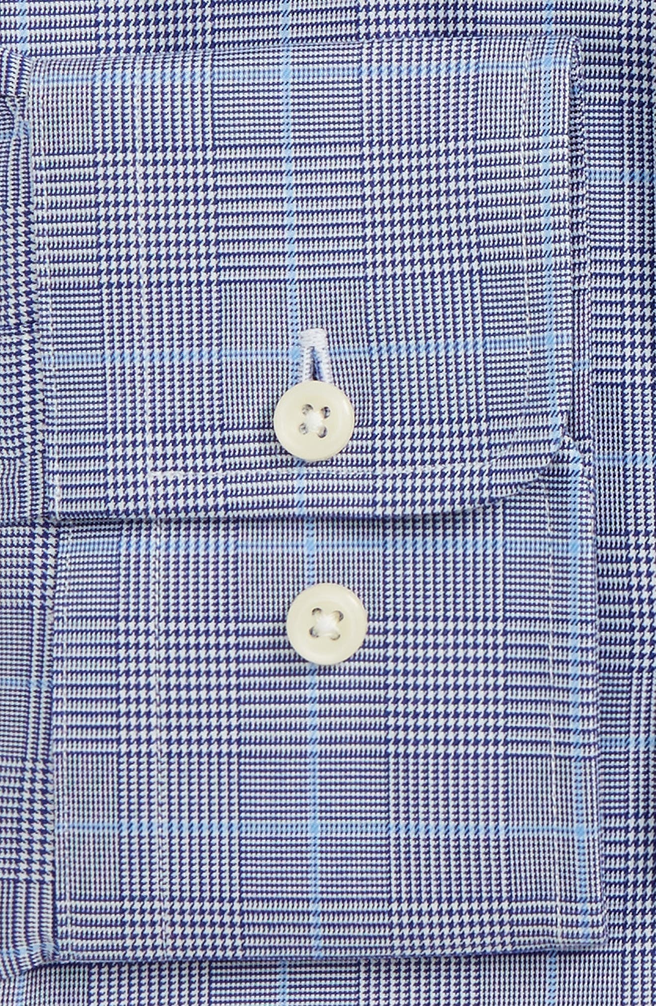 Trim Fit Plaid Dress Shirt,                             Alternate thumbnail 2, color,                             412