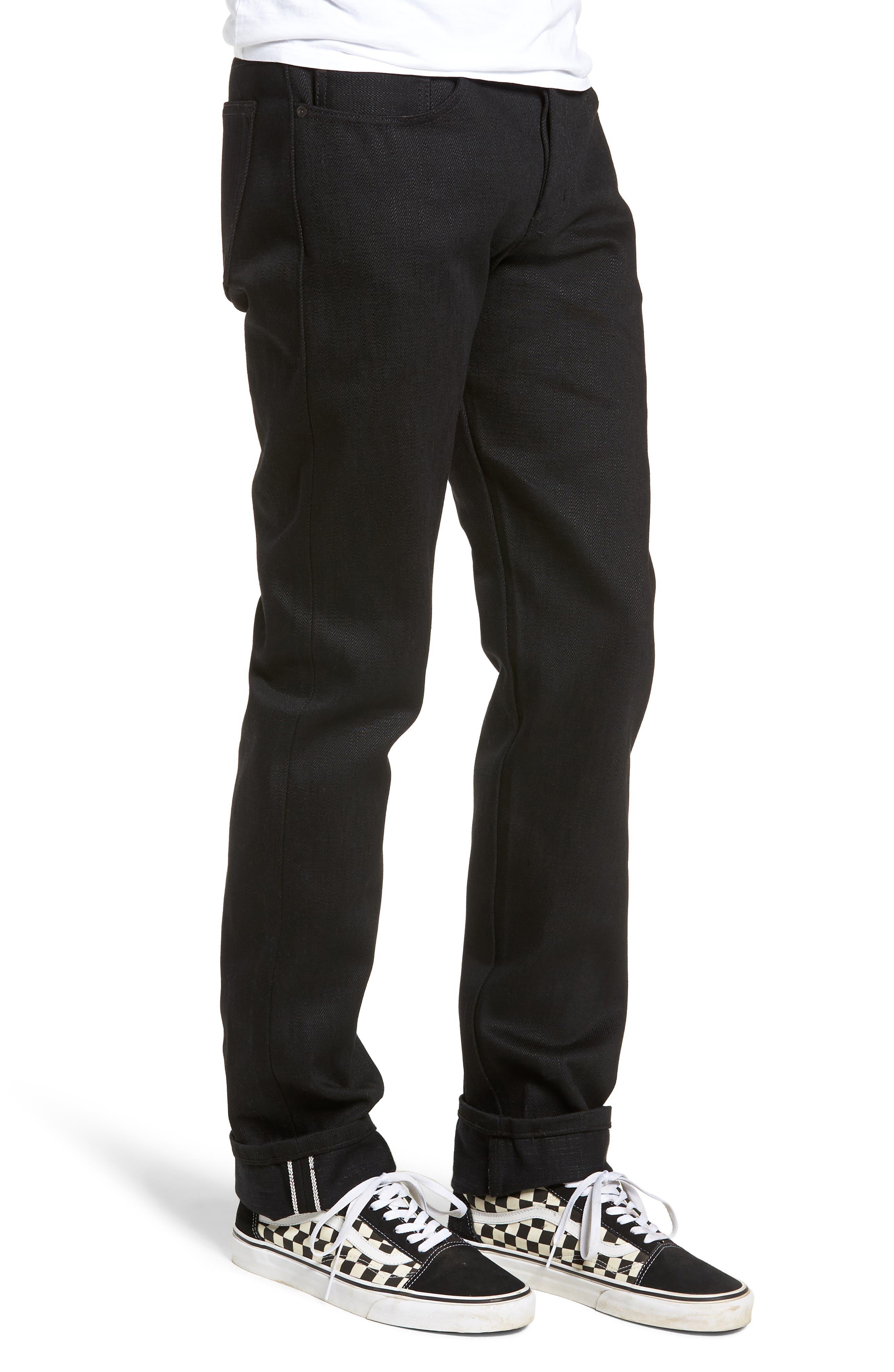 Weird Guy Slim Fit Jeans,                             Alternate thumbnail 3, color,                             ELEPHANT 7 EL DIABLO