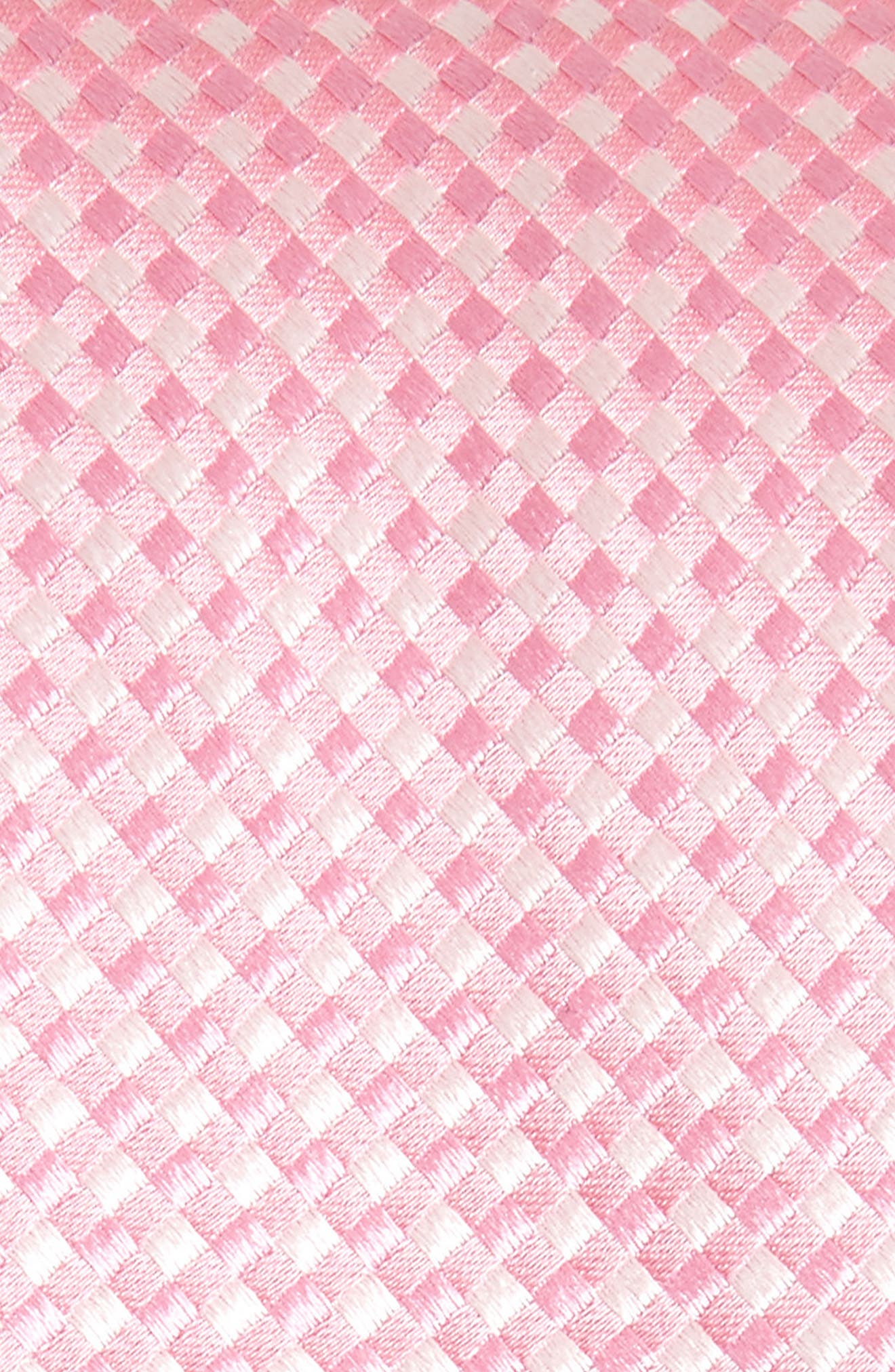 Check Silk Tie,                             Alternate thumbnail 2, color,                             BABY PINK