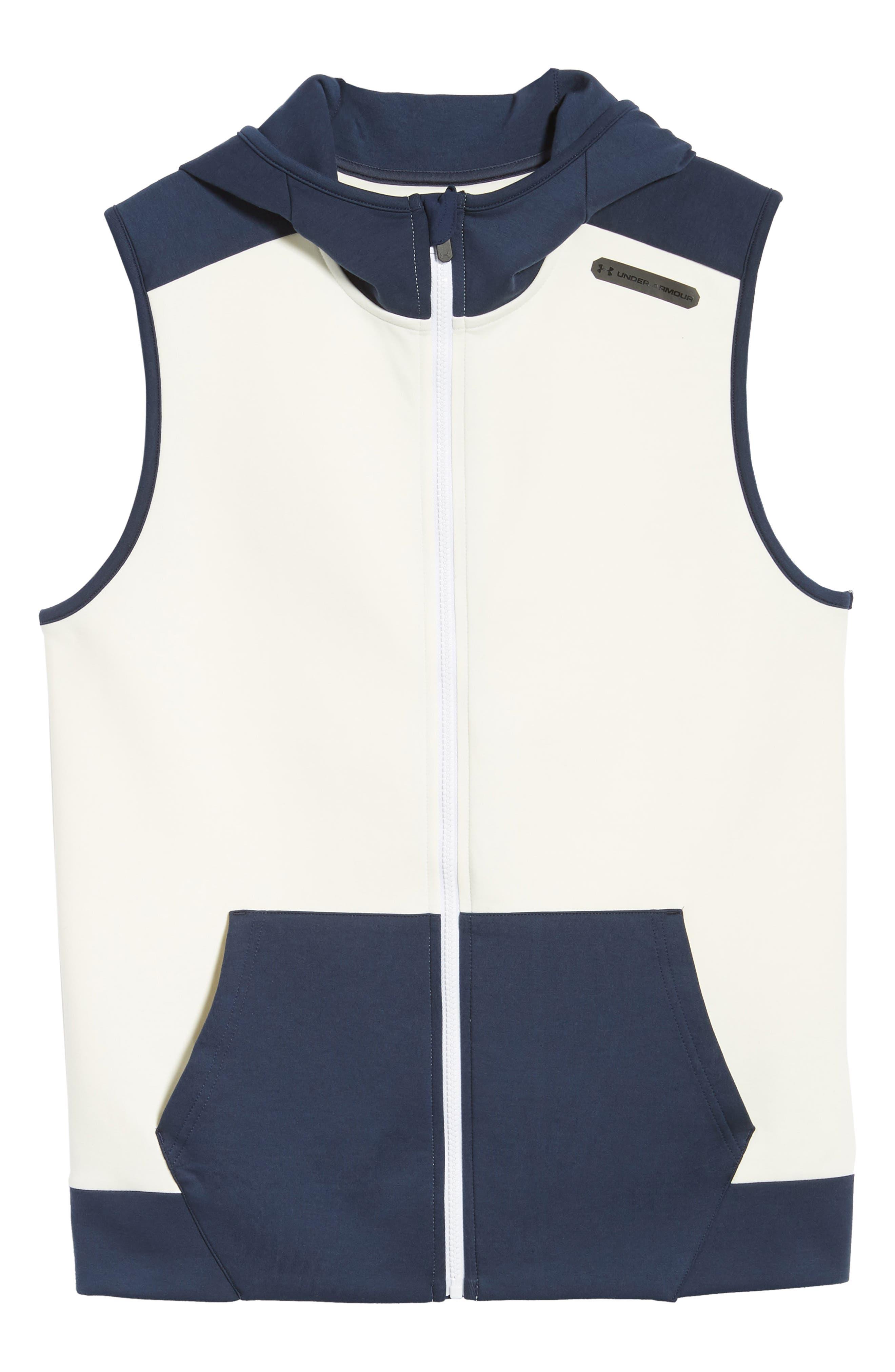 Unstoppable Knit Vest,                             Alternate thumbnail 6, color,                             WHITE / SUMMER NIGHT / BLACK