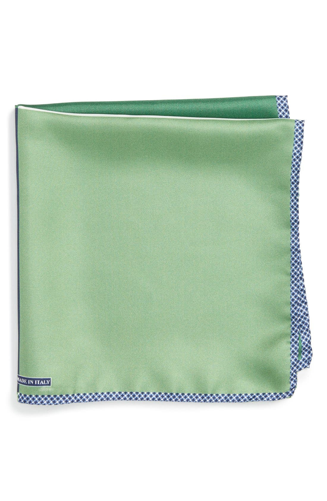 Panel Silk Pocket Square,                         Main,                         color, GREEN