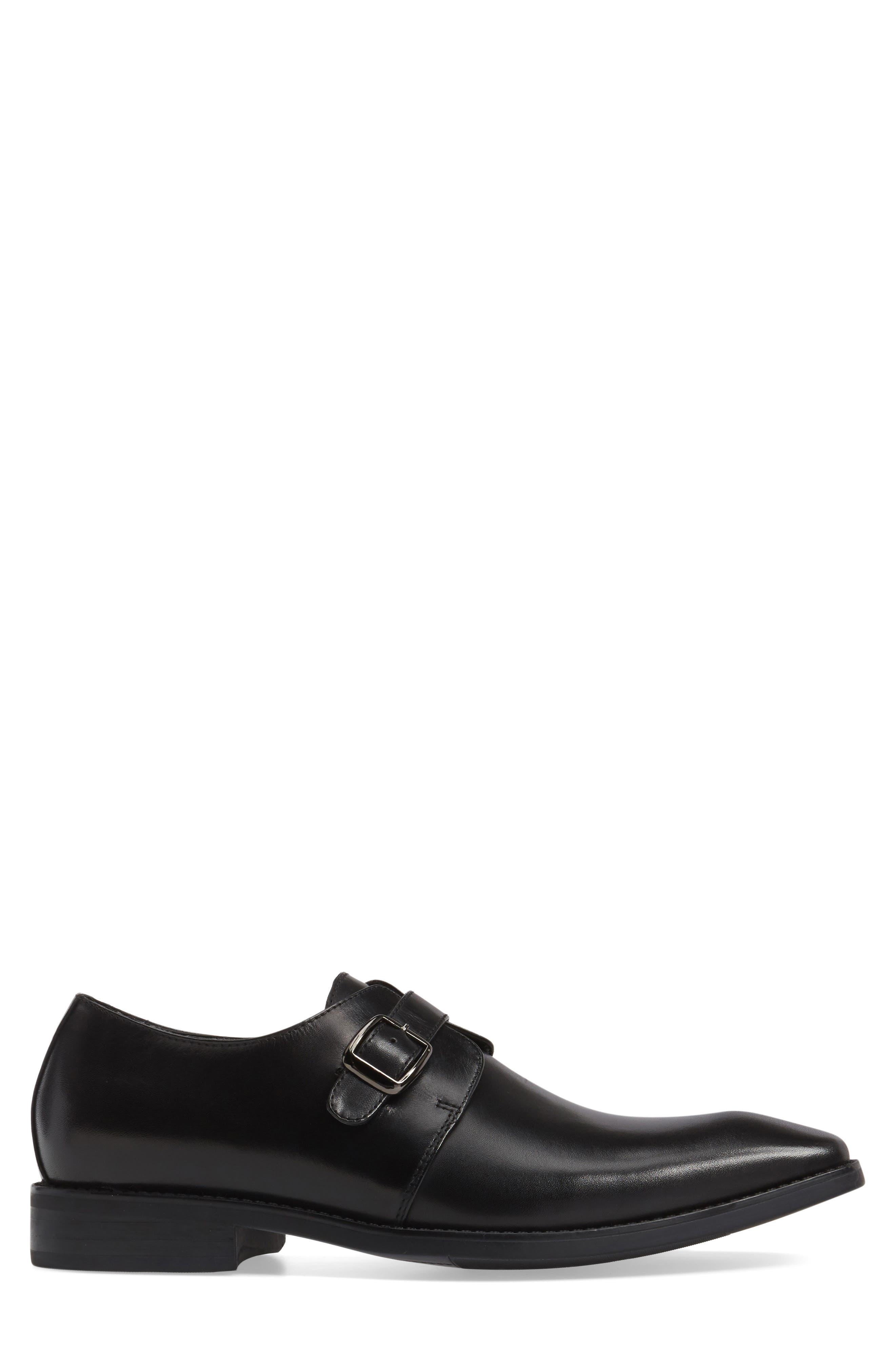 Landon Monk Strap Shoe,                             Alternate thumbnail 3, color,                             001