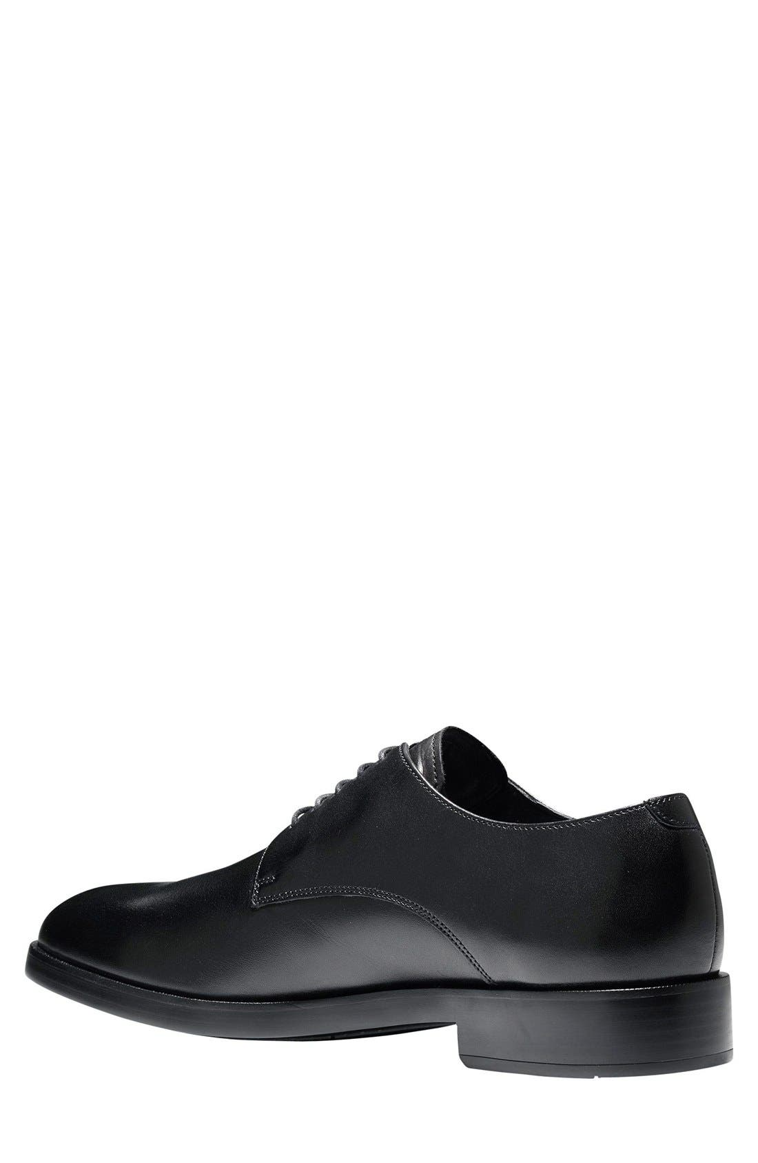 'Harrison Grand' Plain Toe Derby,                             Alternate thumbnail 9, color,                             BLACK