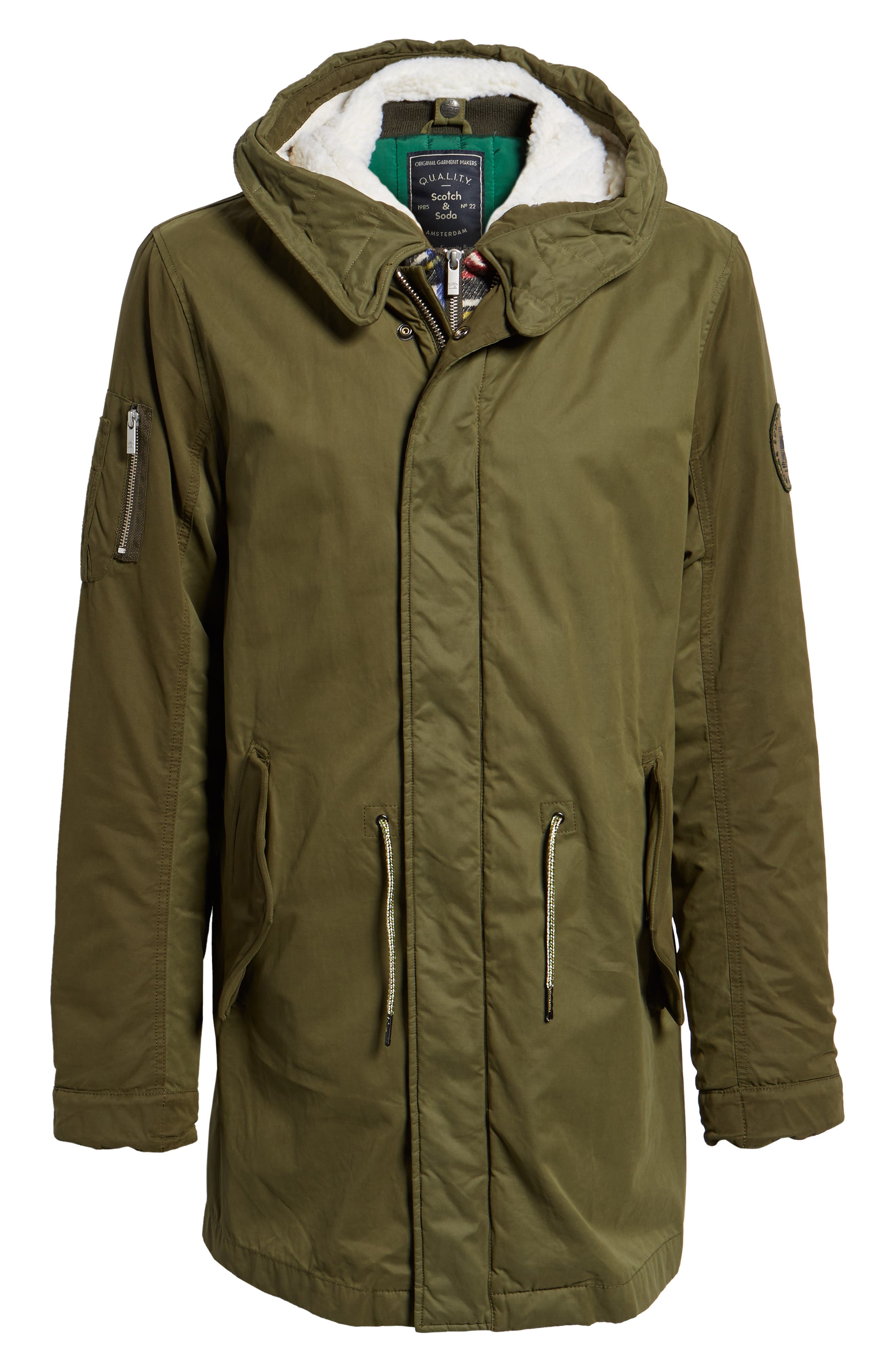 Seasonal Parka with Removable Lining and Detachable Faux Shearling Hood,                             Alternate thumbnail 5, color,                             301