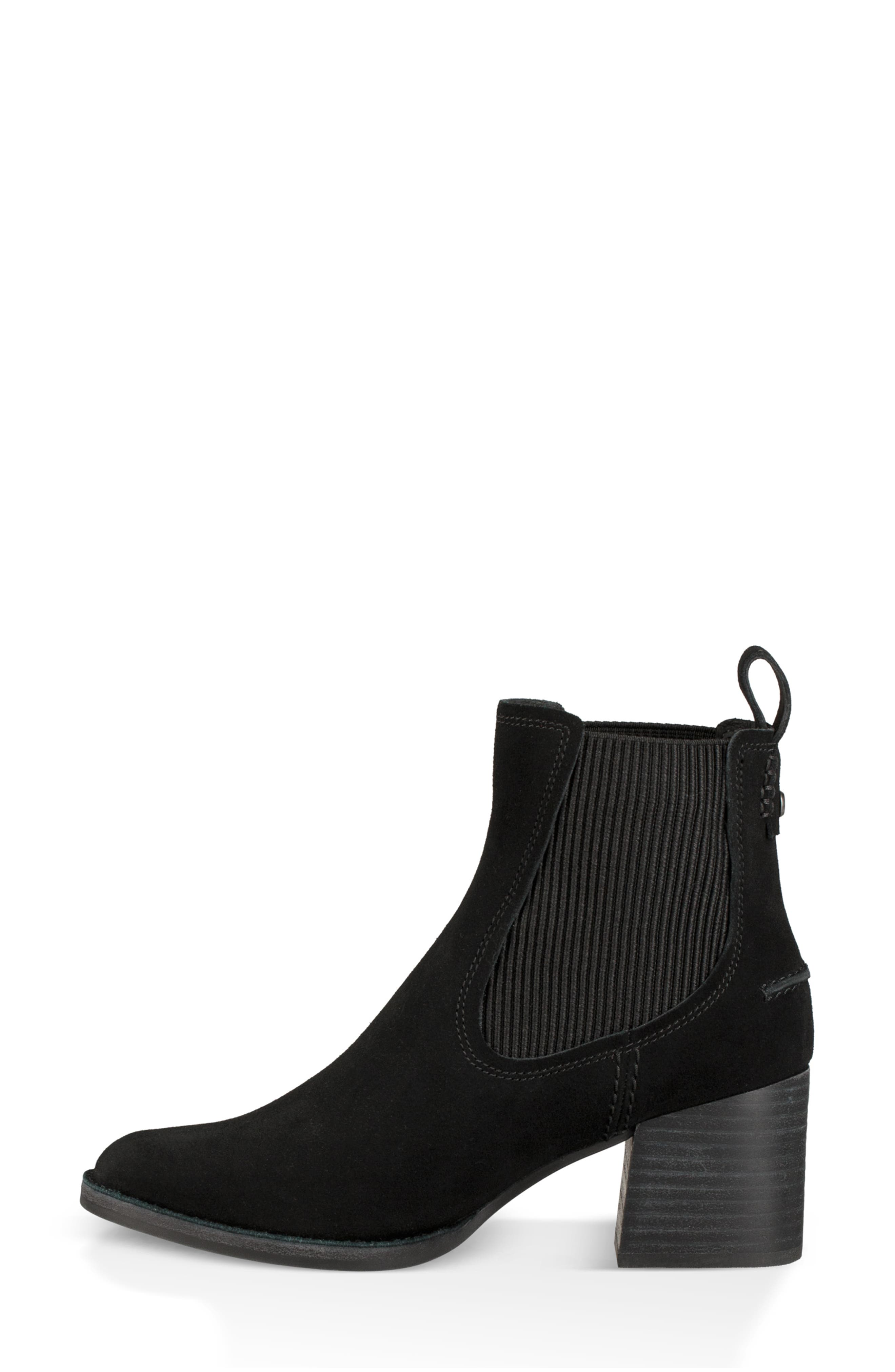 Faye Chelsea Bootie,                             Alternate thumbnail 6, color,                             BLACK SUEDE