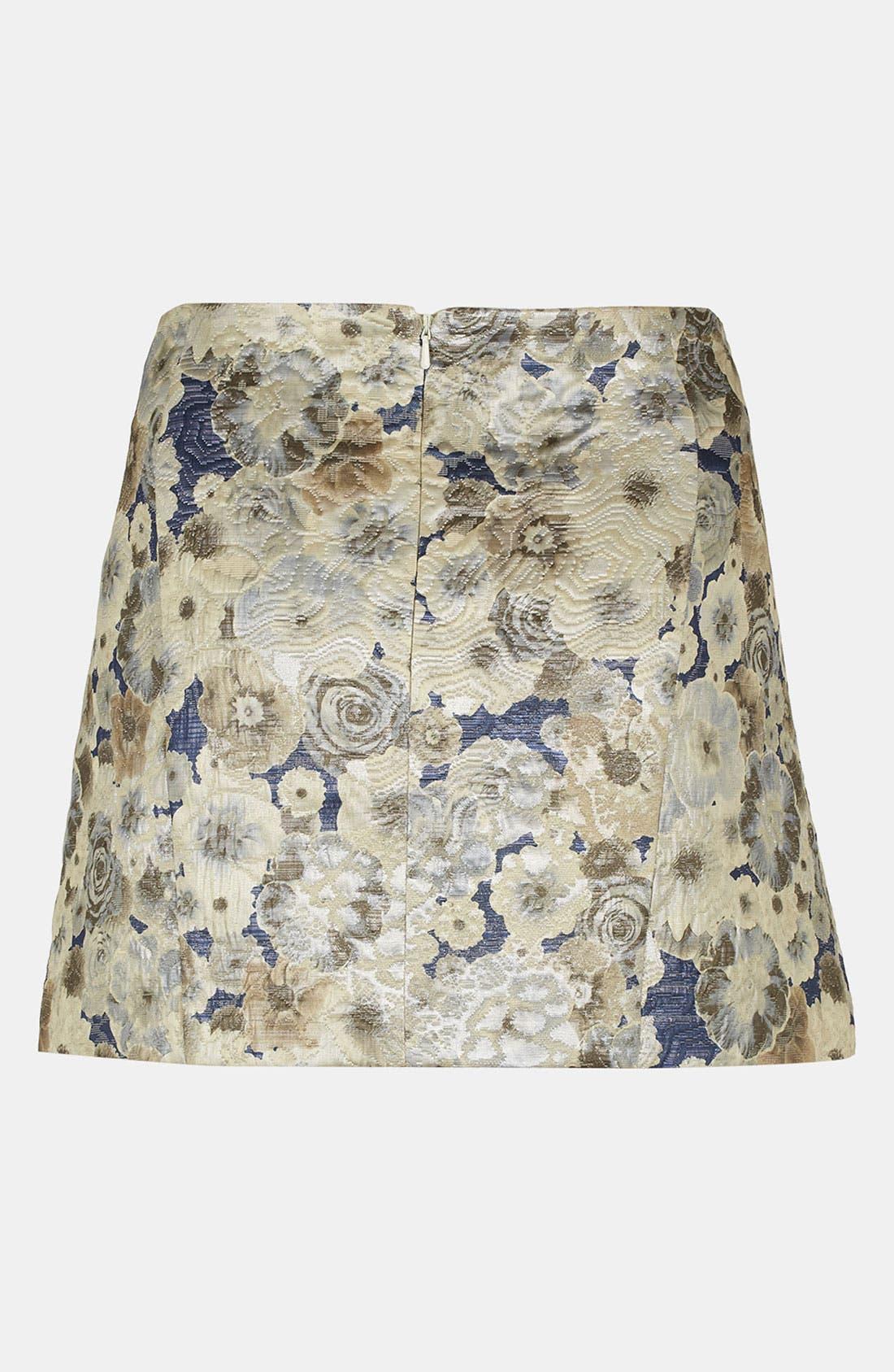 Floral Jacquard Skirt,                             Alternate thumbnail 2, color,                             450