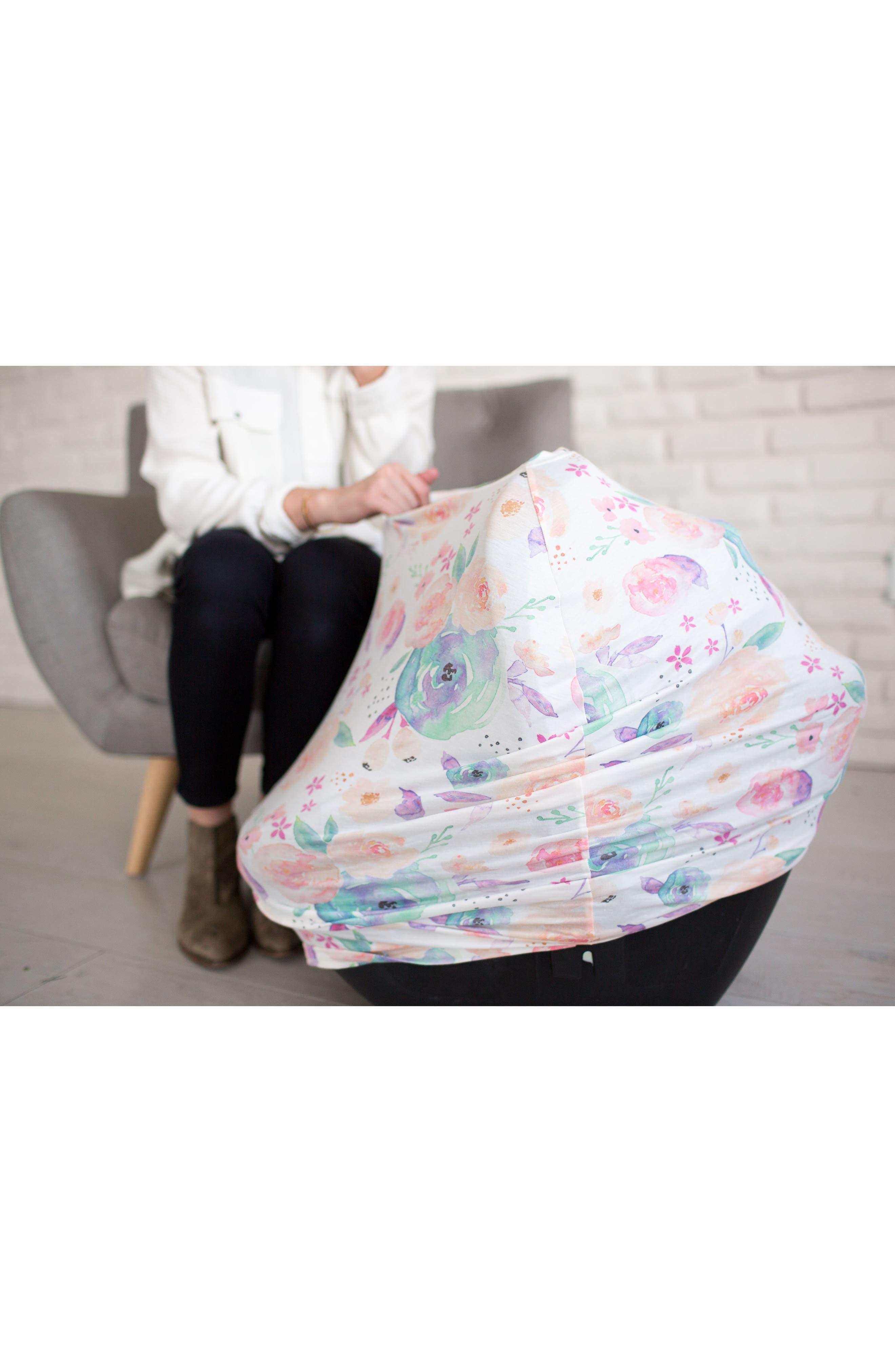 Bloom Multiuse Cover & Swaddle Blanket Gift Set,                             Alternate thumbnail 6, color,                             BLOOM