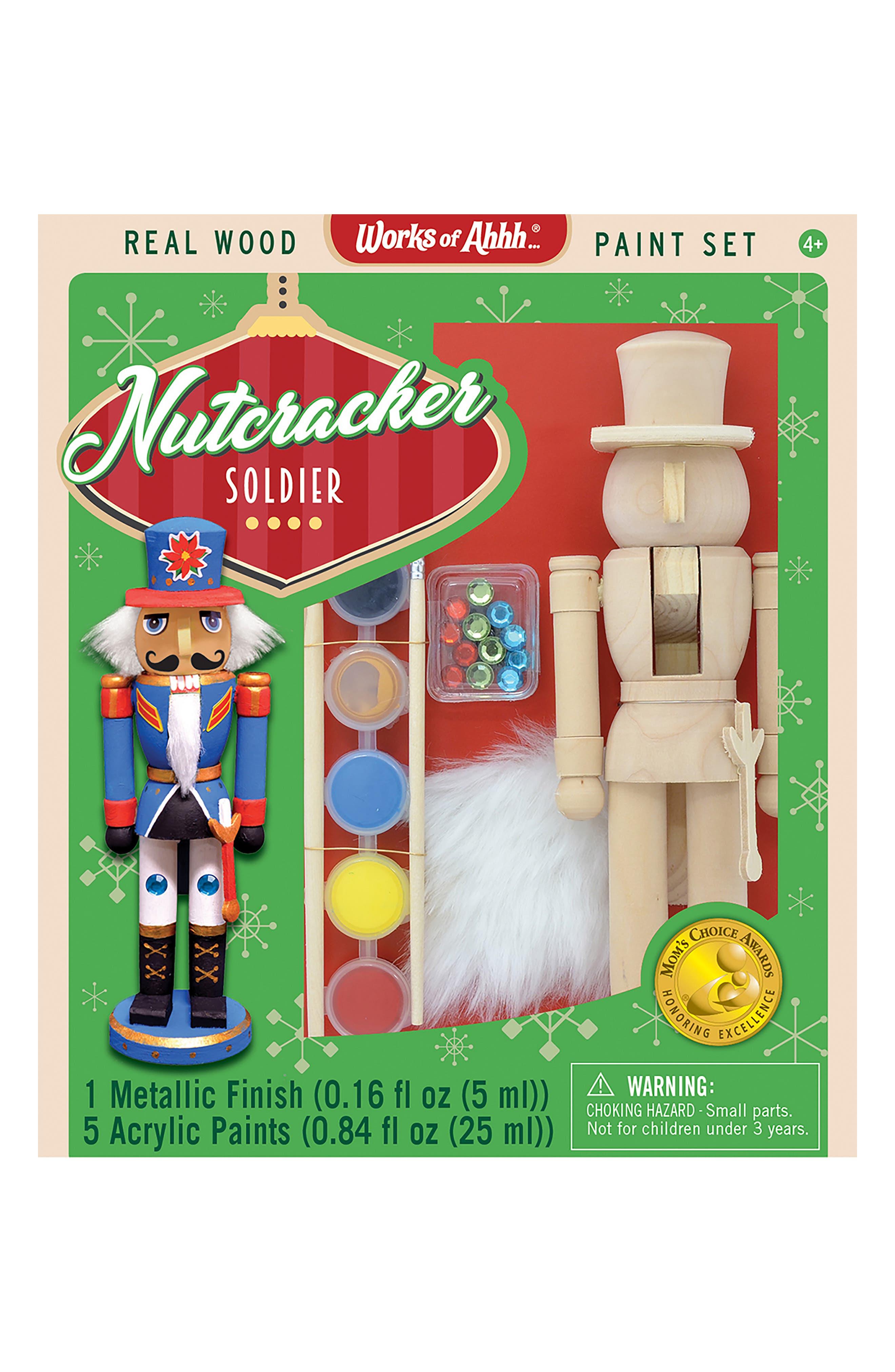 Nutcracker Soldier Wood Craft & Paint Kit,                             Main thumbnail 1, color,                             960