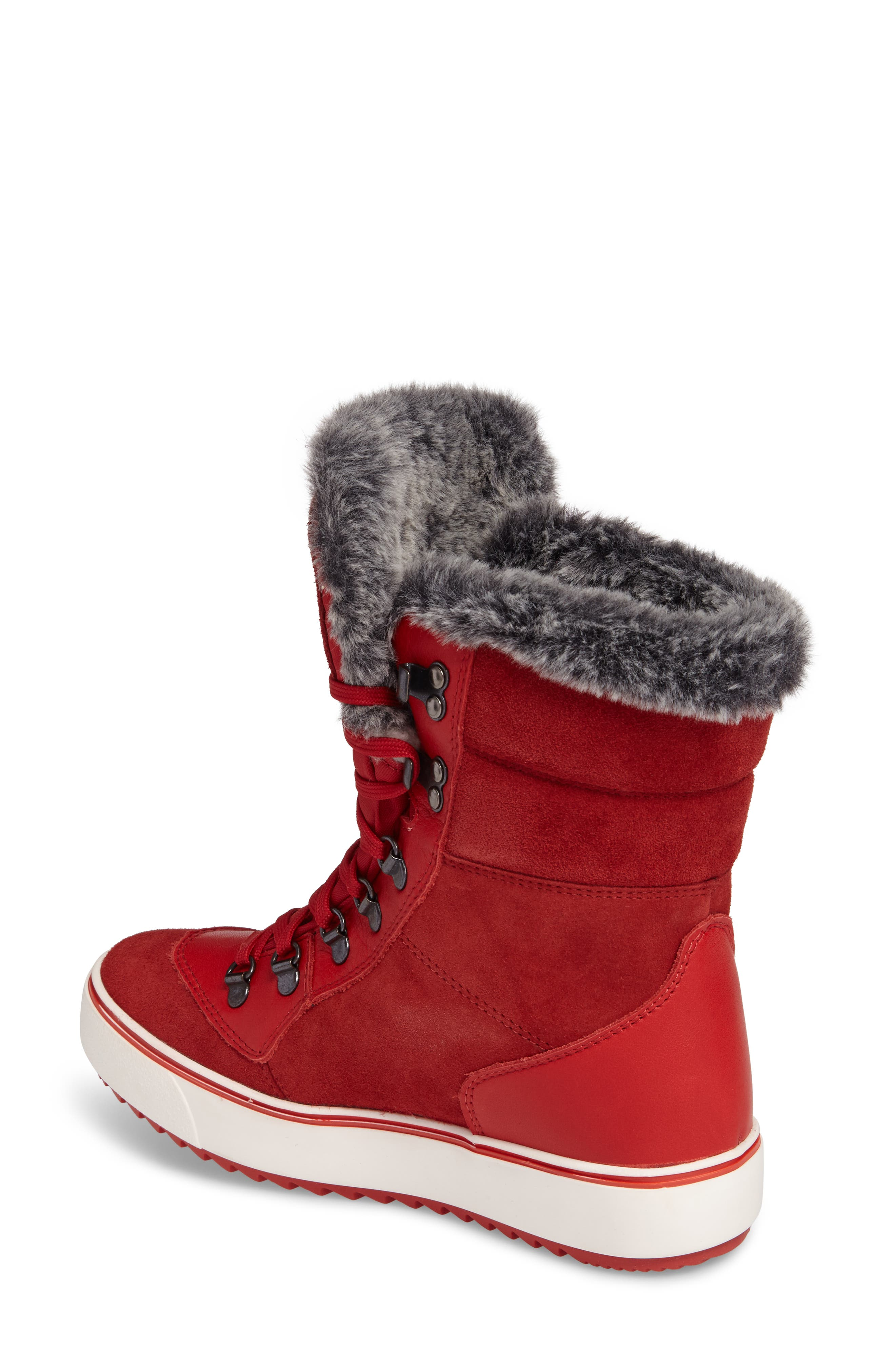 Mixx Faux Fur Waterproof Boot,                             Alternate thumbnail 6, color,