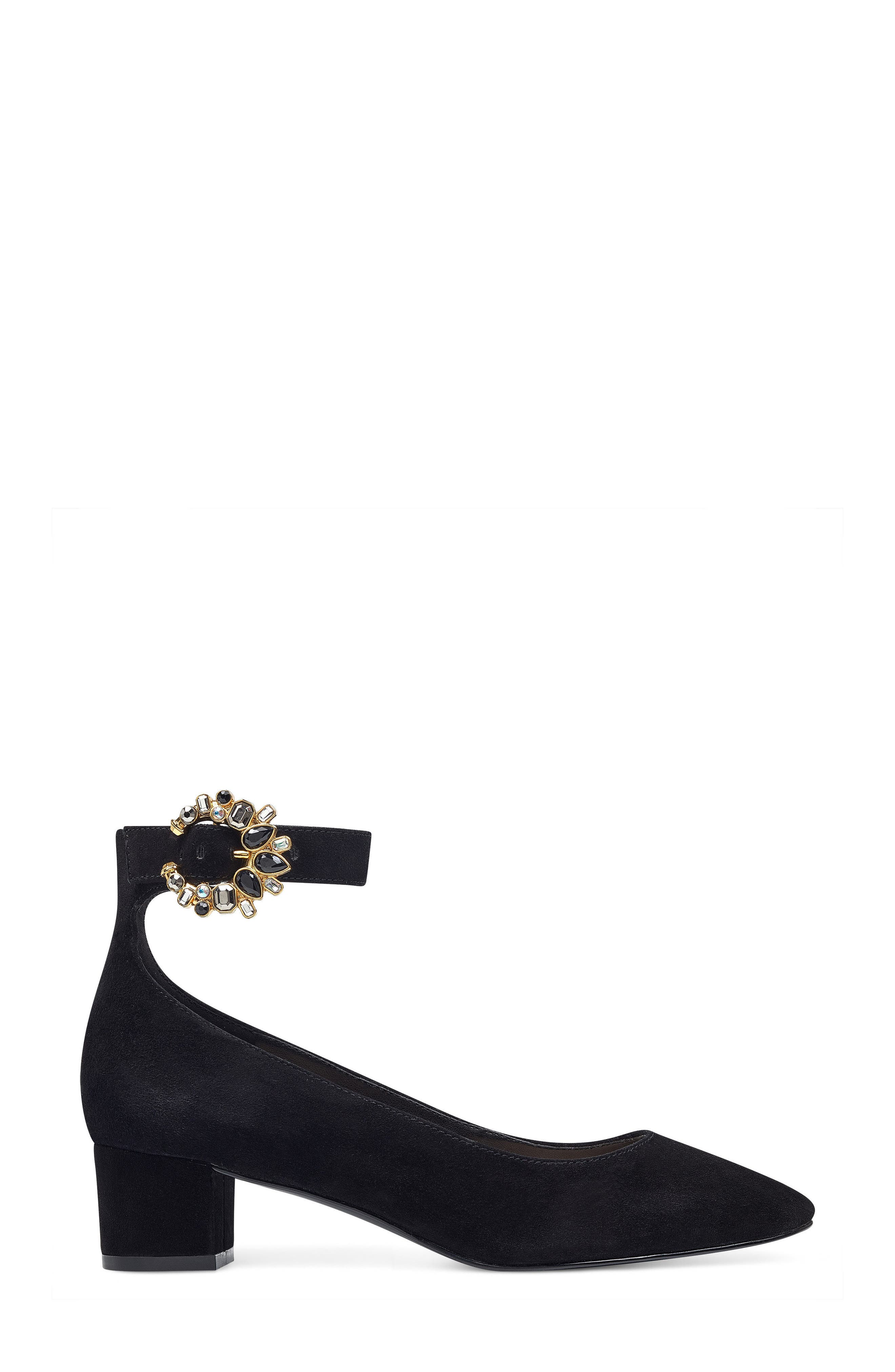 Bartly Ankle Strap Pump,                             Alternate thumbnail 3, color,                             001