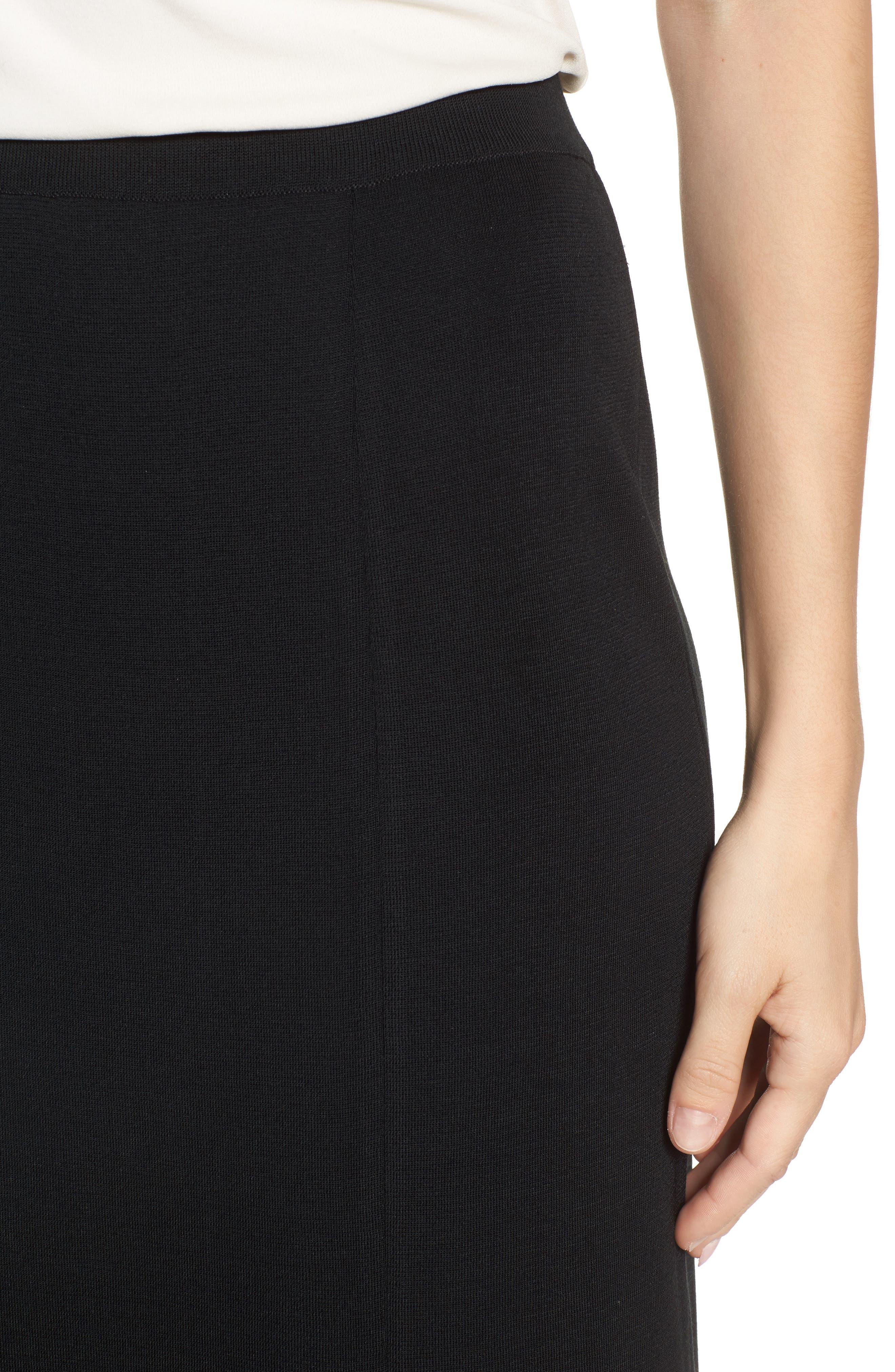 MING WANG,                             Double Slit Maxi Skirt,                             Alternate thumbnail 4, color,                             001