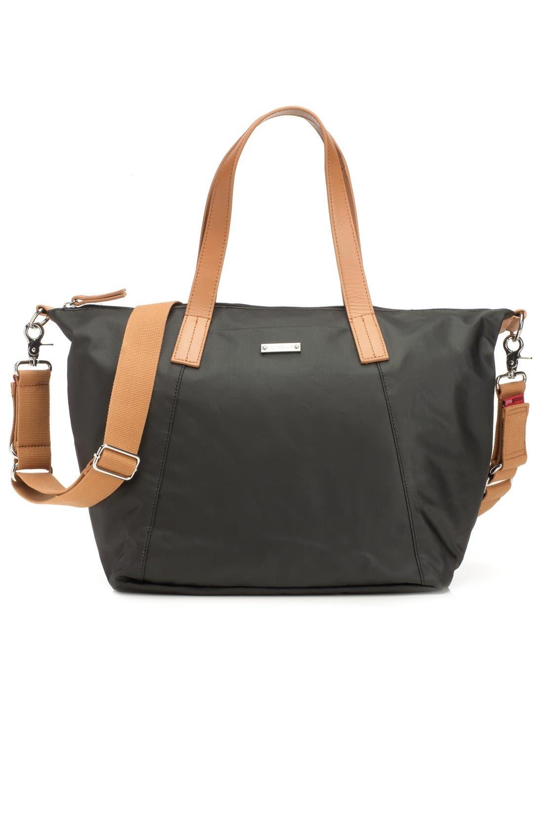 Noa Diaper Bag,                         Main,                         color, BLACK