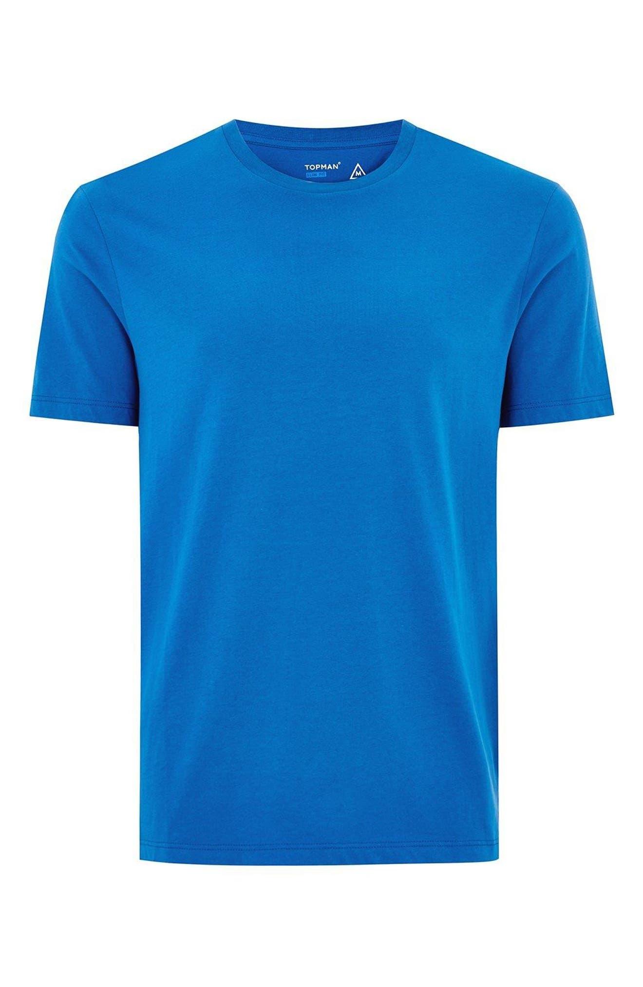 Slim Fit Crewneck T-Shirt,                             Alternate thumbnail 201, color,