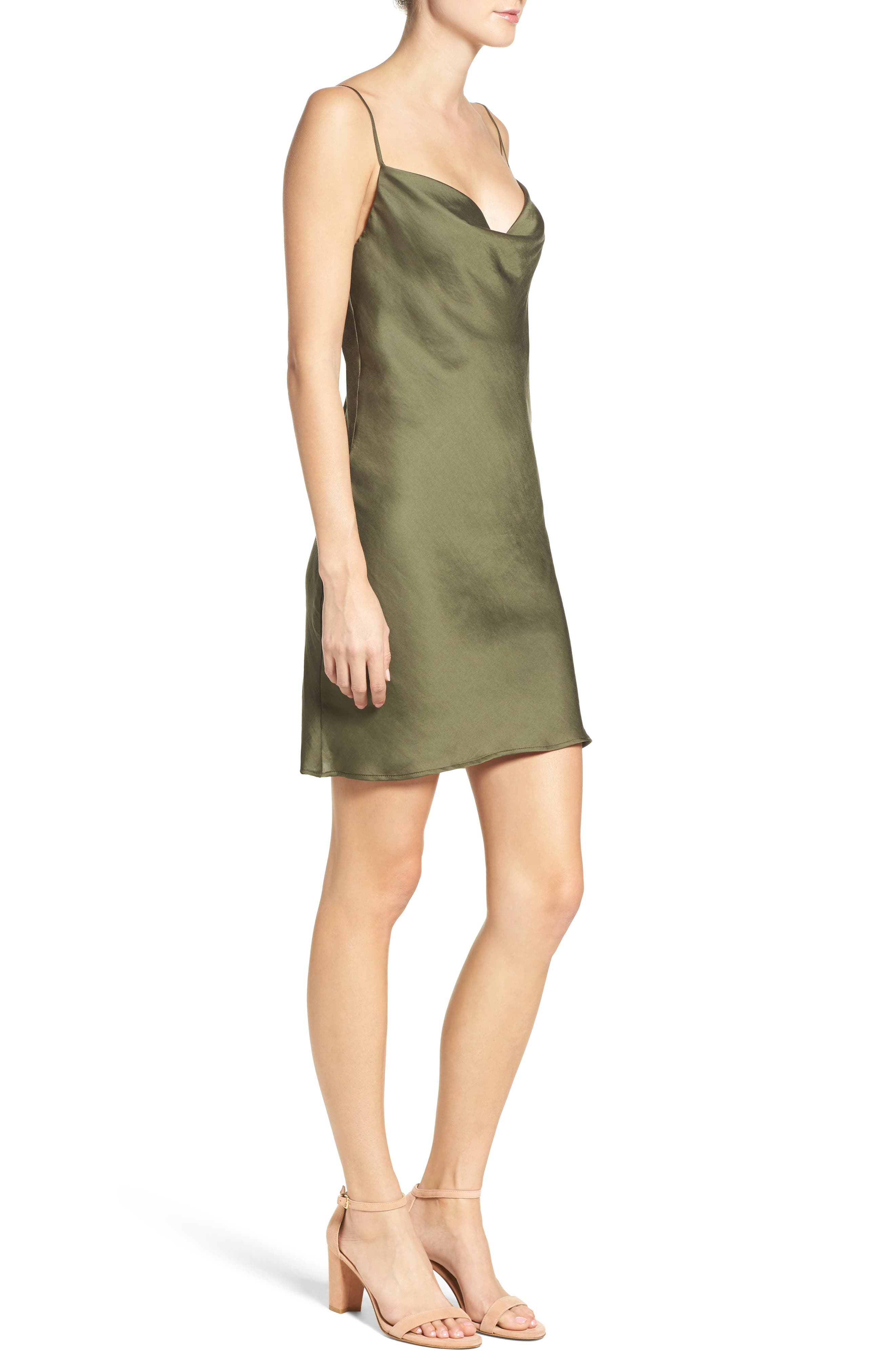 Cowl Slipdress,                             Alternate thumbnail 3, color,                             311