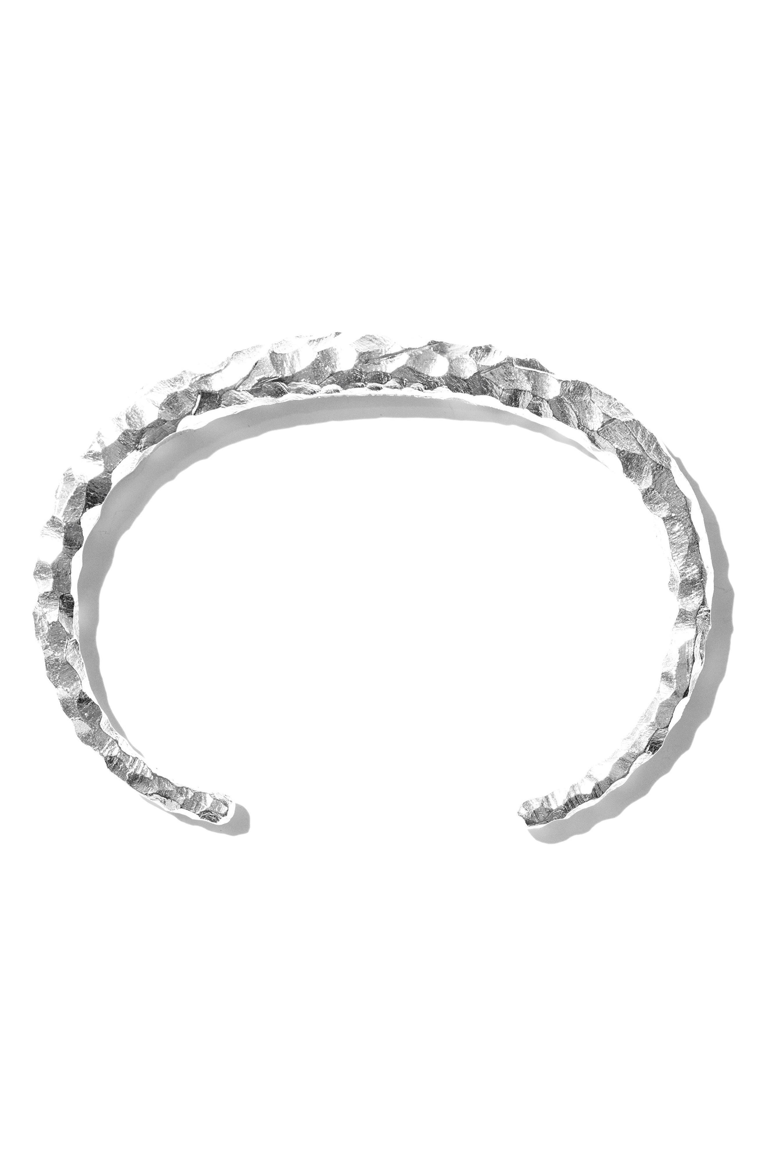 Large Snake Carved Silver Bracelet,                             Alternate thumbnail 2, color,                             CARVED SILVER