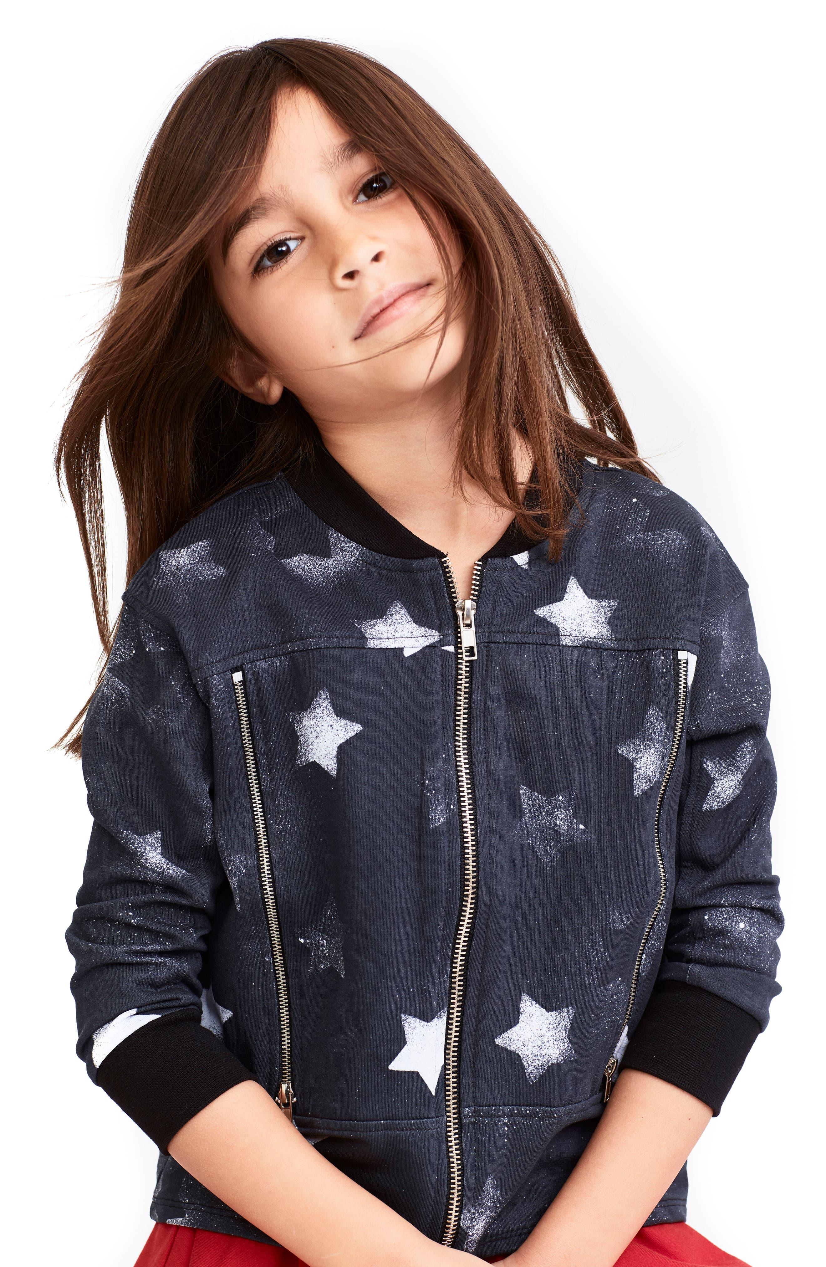 Camilla Star Print Bomber Jacket,                         Main,                         color, 002