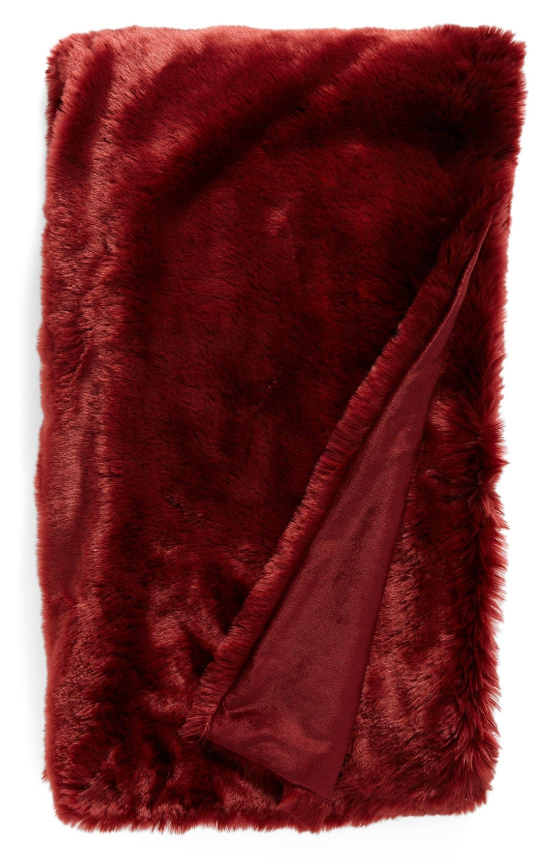 Cuddle Up Faux Fur Throw Blanket,                             Main thumbnail 16, color,