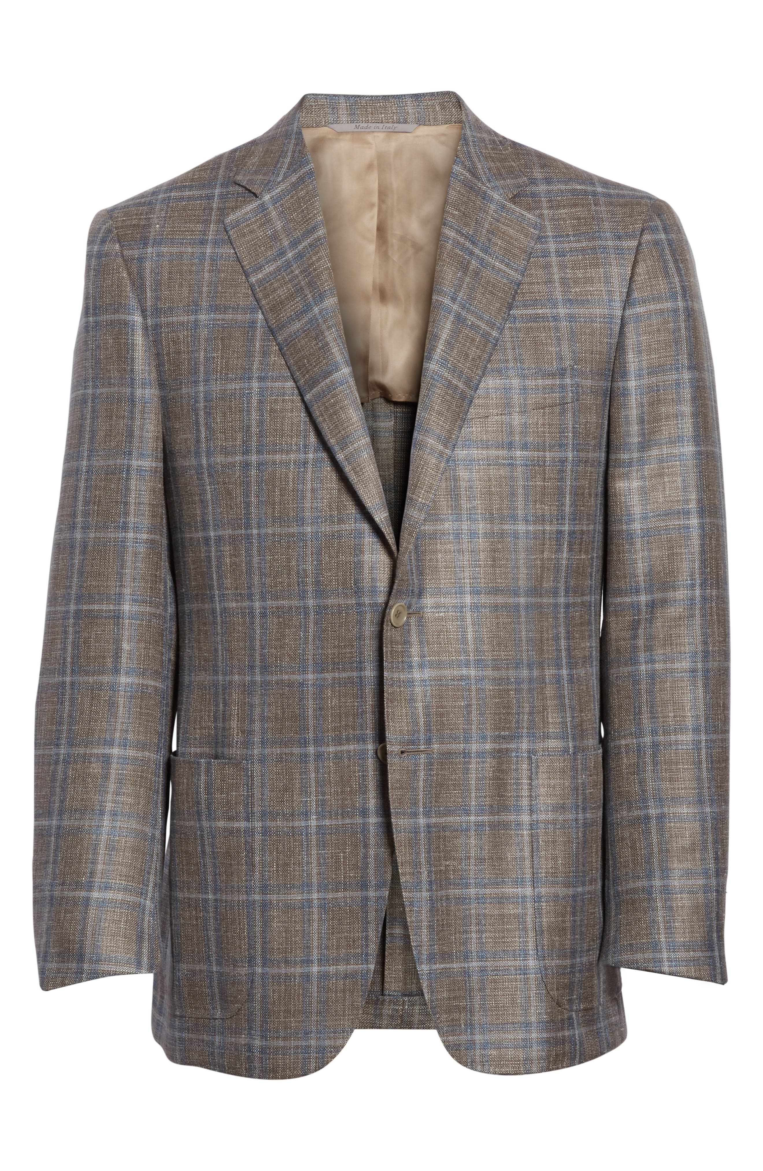 Kei Classic Fit Windowpane Wool Blend Sport Coat,                             Alternate thumbnail 5, color,                             250