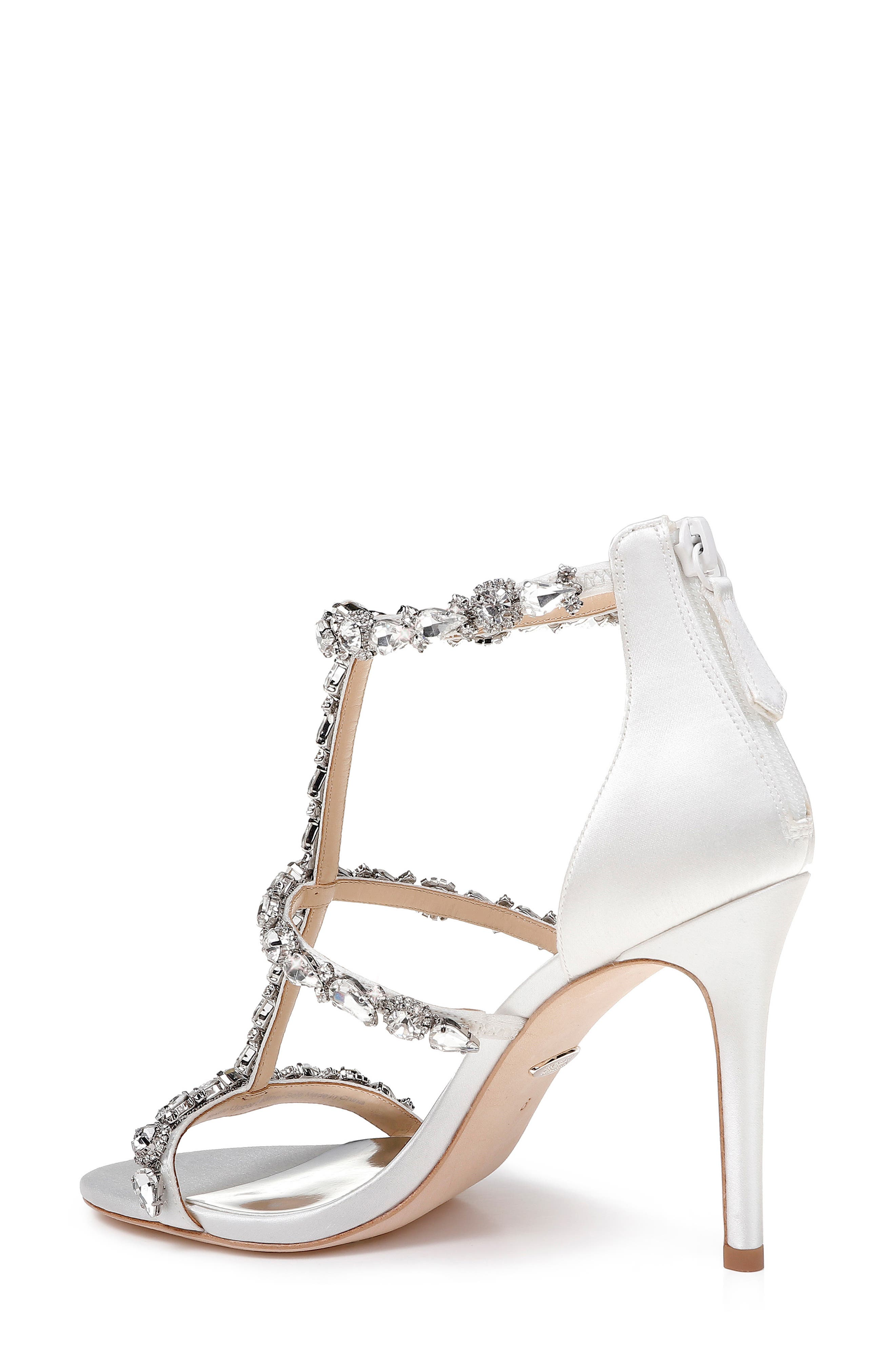 Querida Embellished Sandal,                             Alternate thumbnail 2, color,                             SOFT WHITE SATIN