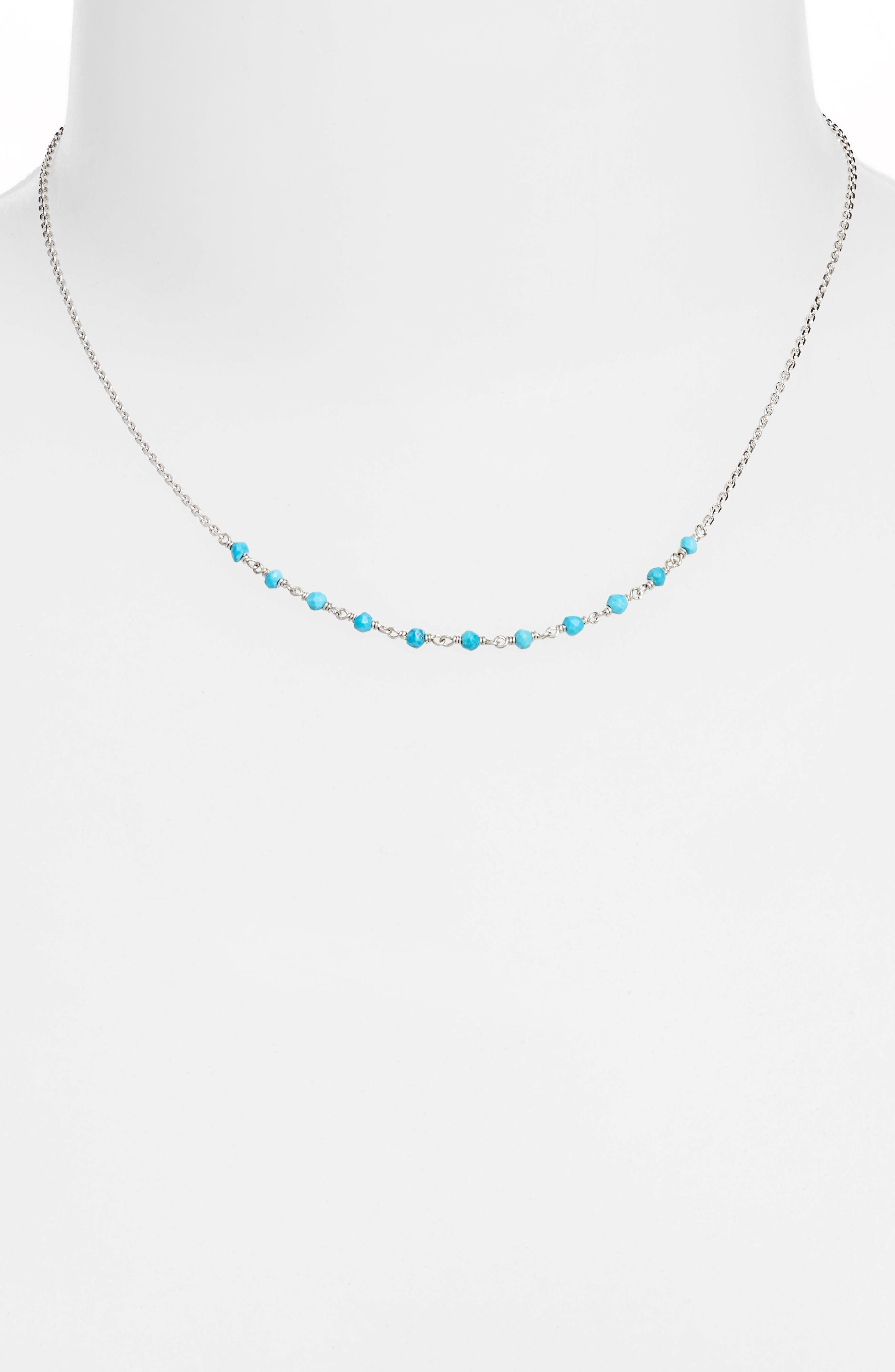 Lapis Collar Necklace,                             Alternate thumbnail 2, color,                             SILVER/ TURQUOISE