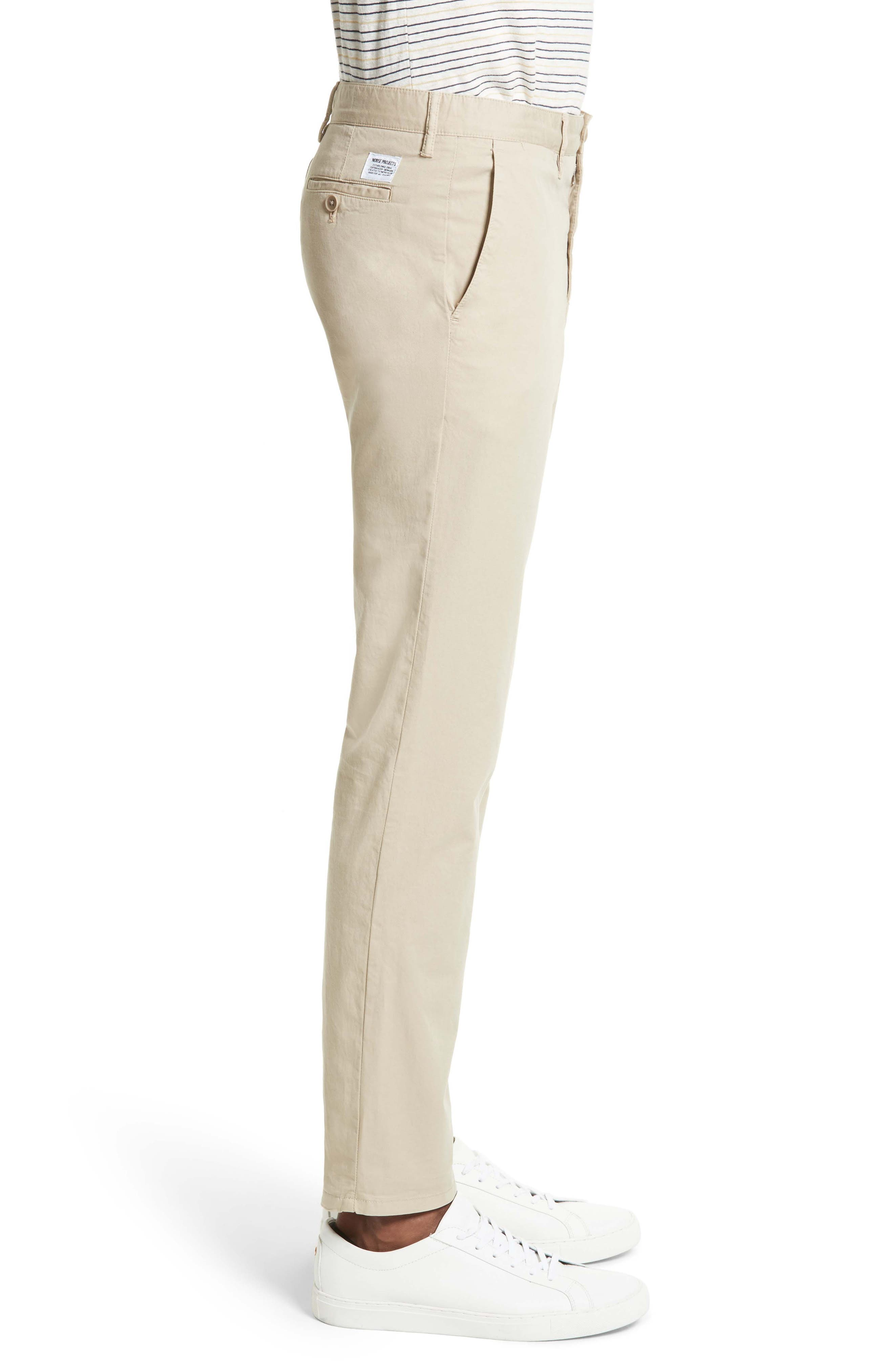 Slim Fit Cotton Twill Chinos,                             Alternate thumbnail 3, color,                             250