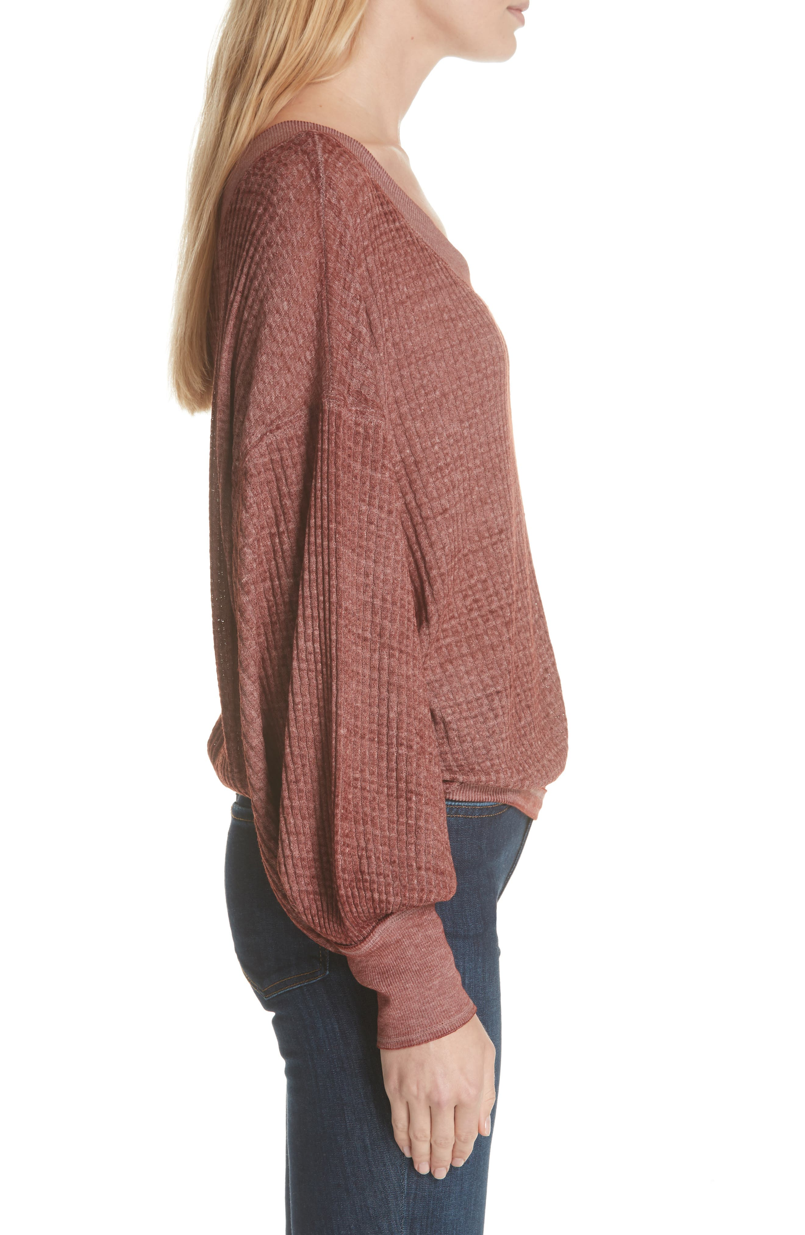 We the Free by Free People South Side Thermal Top,                             Alternate thumbnail 3, color,                             CINNAMON