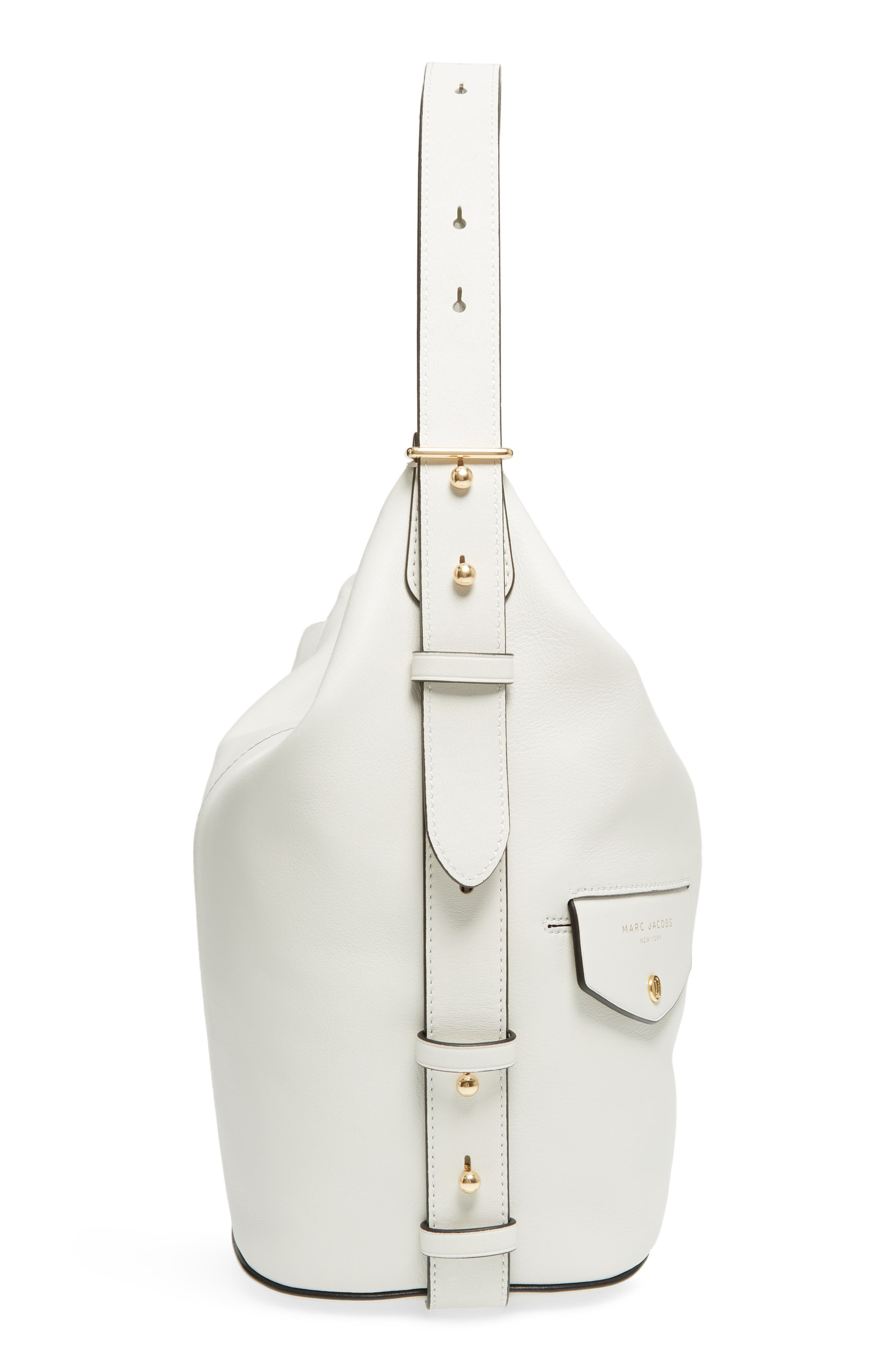 The Sling Convertible Leather Hobo,                             Alternate thumbnail 5, color,                             103