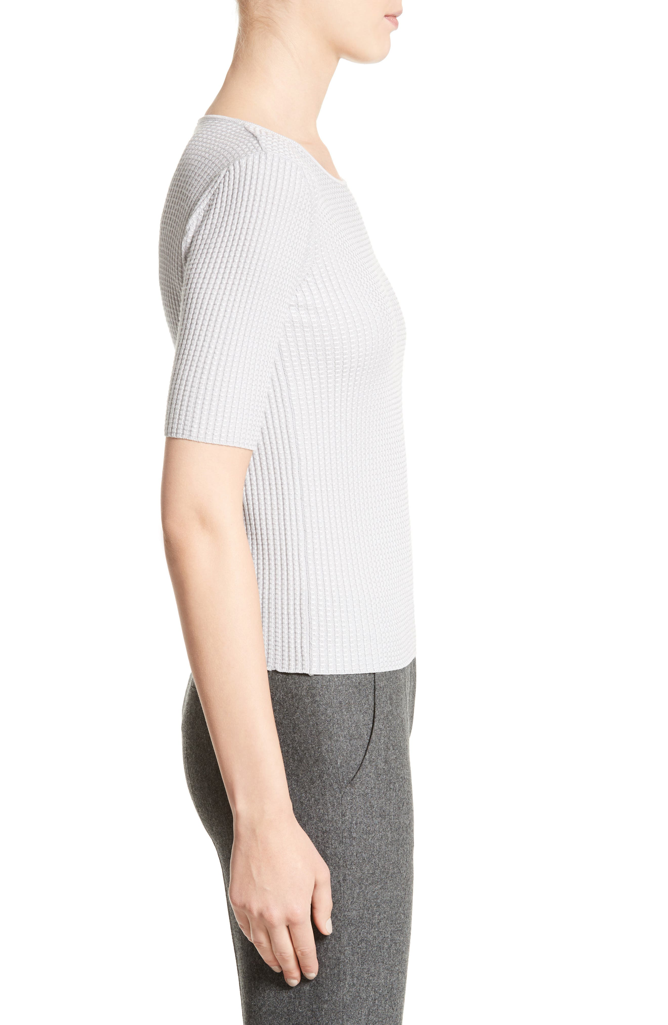 Stretch Wool Blend Top,                             Alternate thumbnail 3, color,                             020