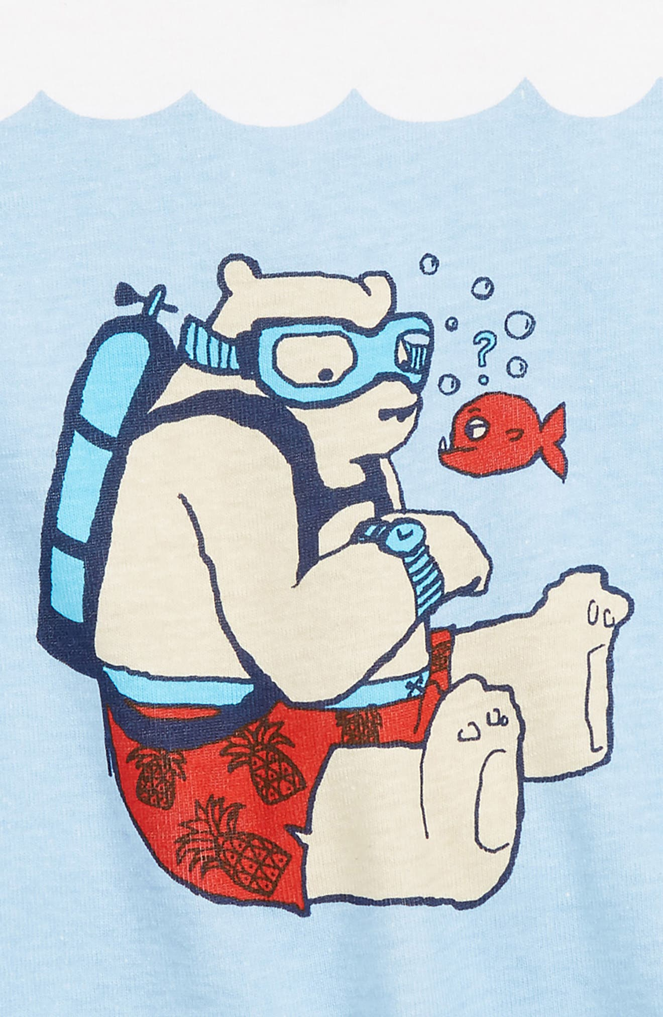 Two-Piece Fitted Pajamas,                             Alternate thumbnail 2, color,                             BLUE DUSK UNDERWATER BEAR