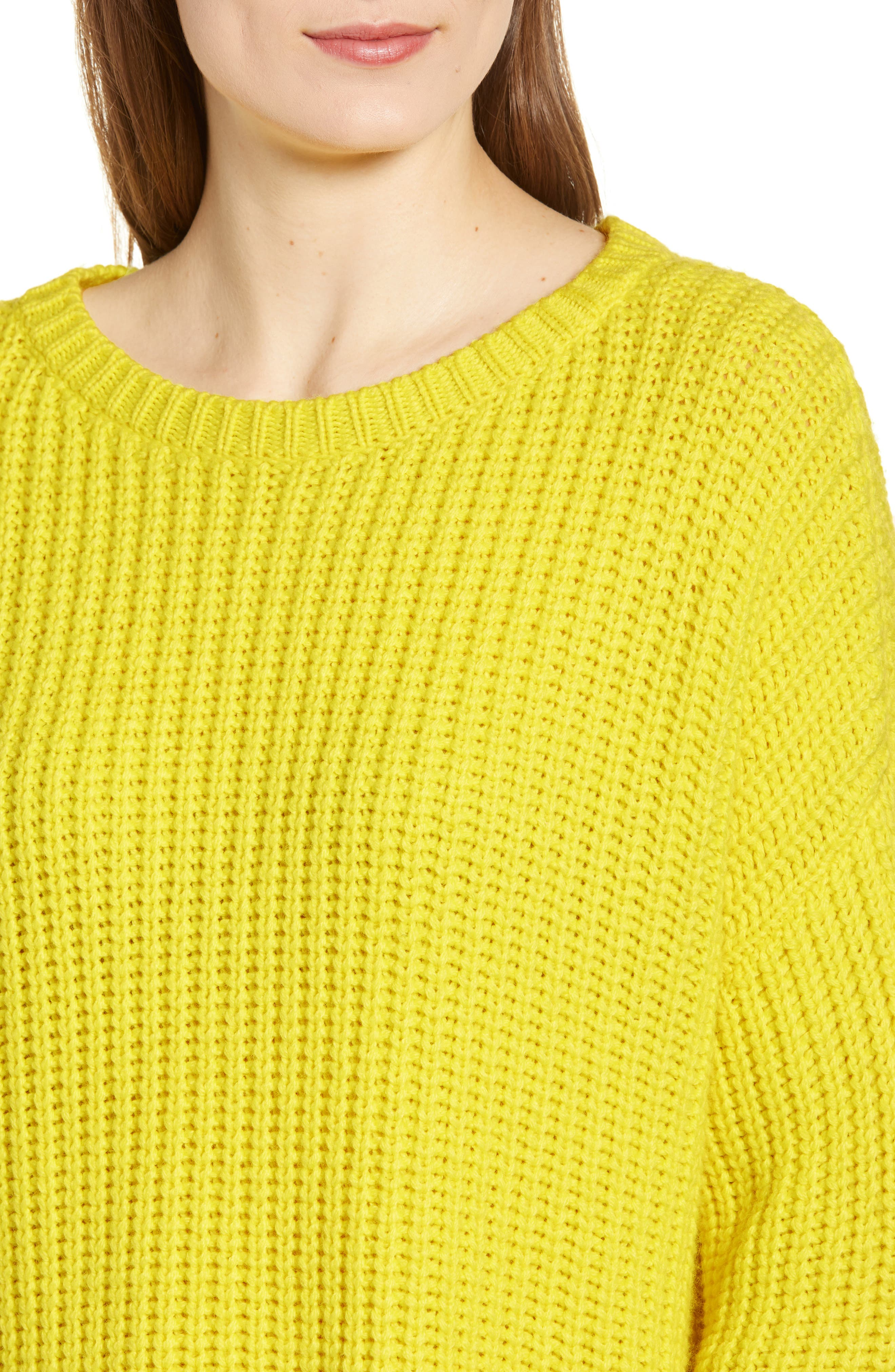 High/Low Sweater,                             Alternate thumbnail 4, color,                             HIGHLIGHT