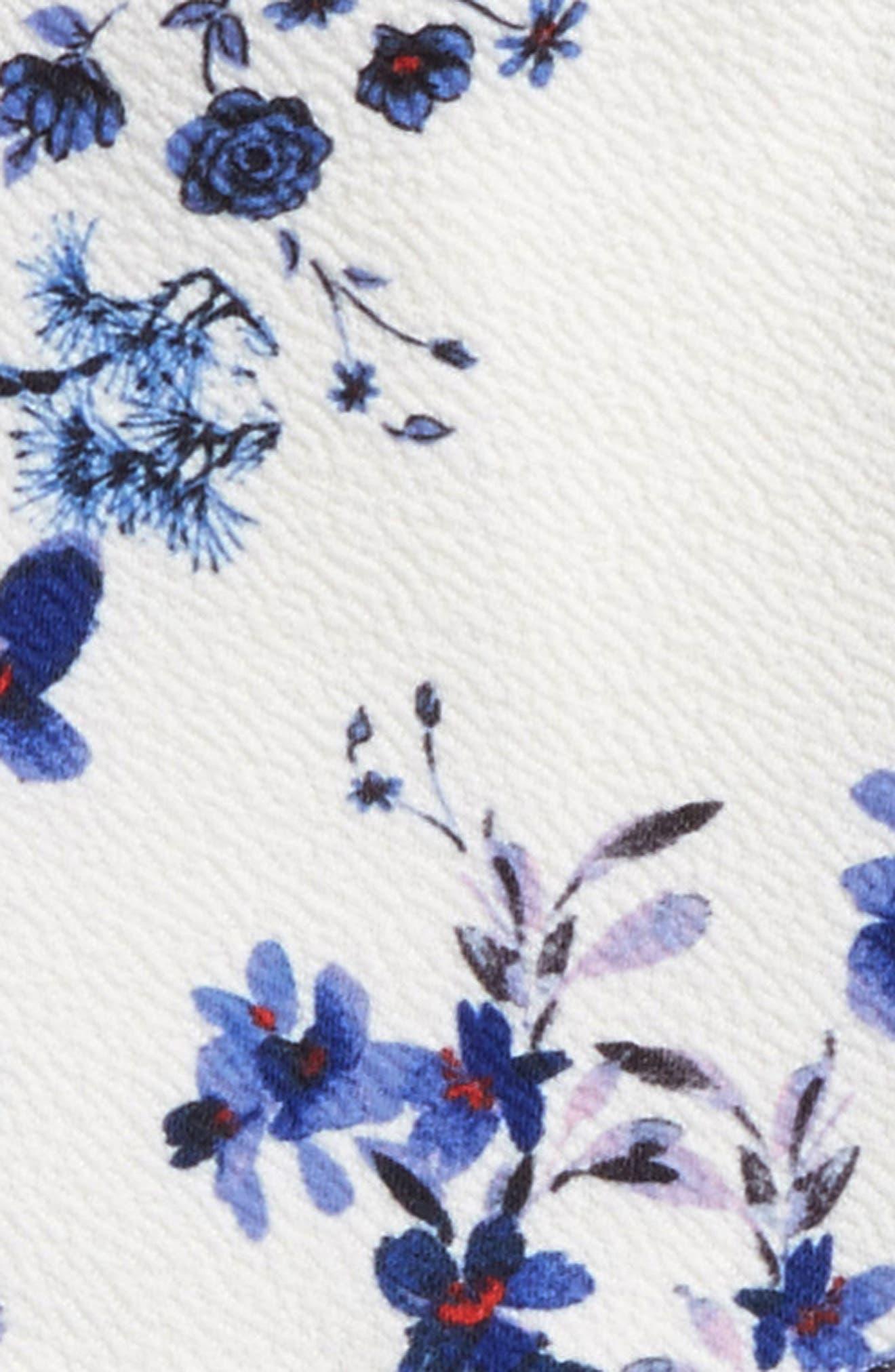 Floral Print Skater Dress,                             Alternate thumbnail 3, color,                             111