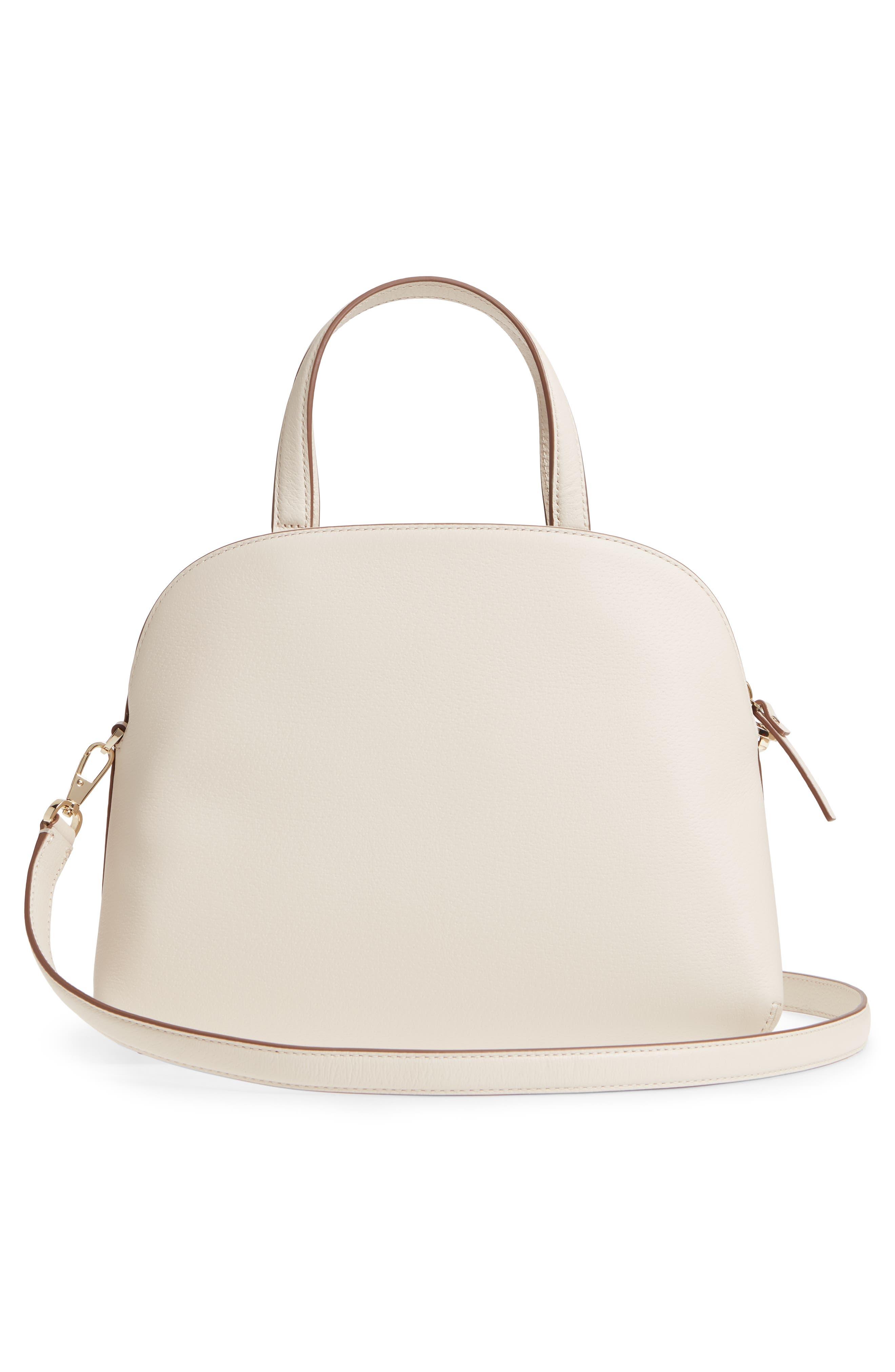 picnic perfect – lottie leather satchel,                             Alternate thumbnail 3, color,                             700