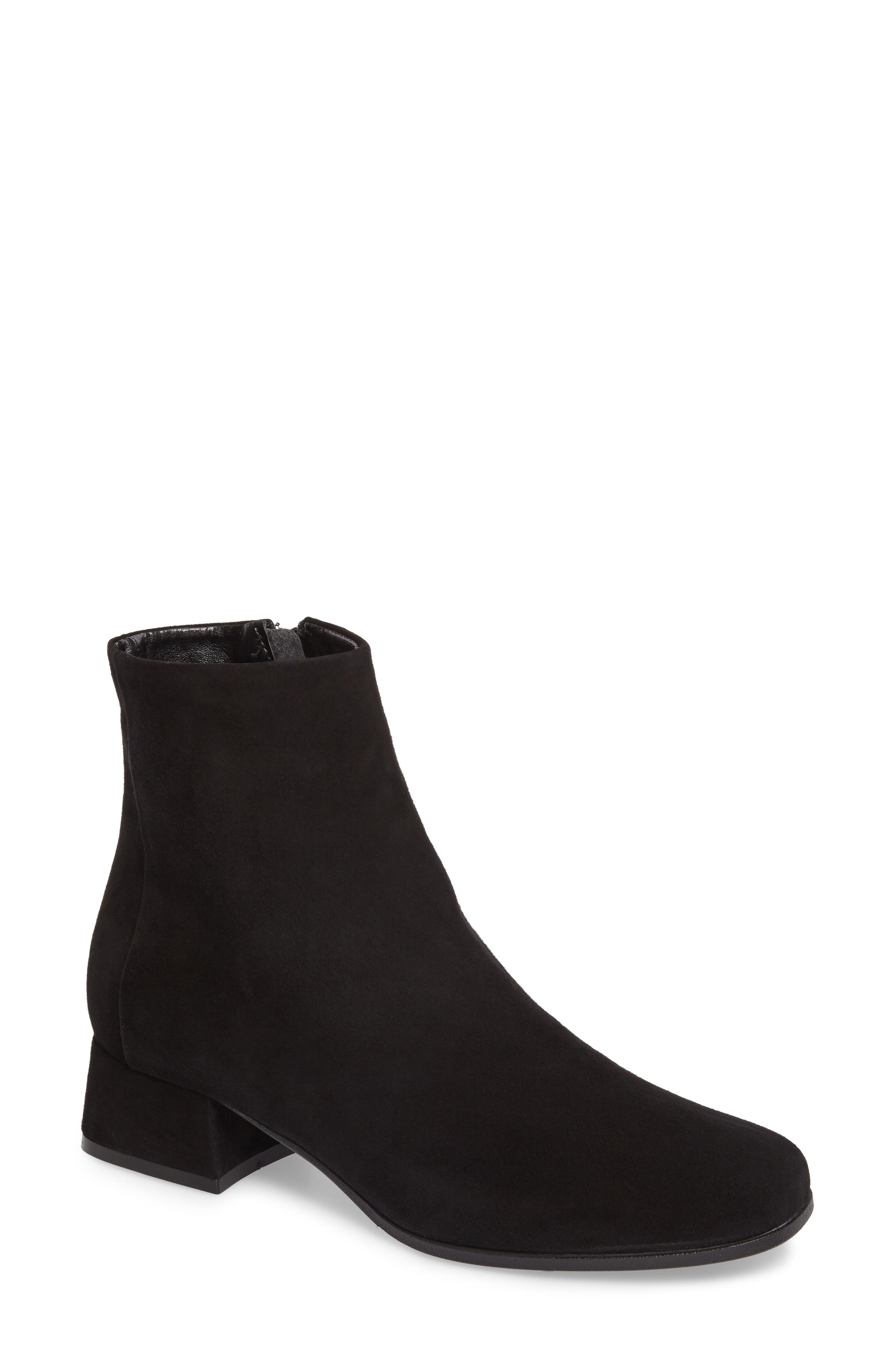 Bessie Square Toe Bootie,                             Main thumbnail 1, color,                             002