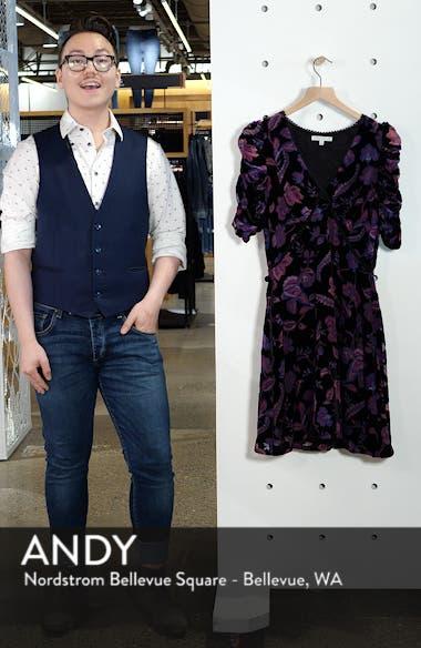 Arlette Floral Velvet Dress, sales video thumbnail