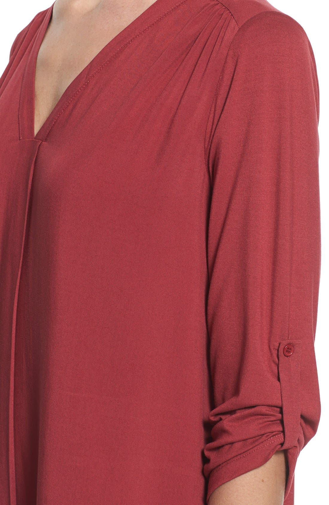 Mixed Media V-Neck Tunic,                             Alternate thumbnail 170, color,
