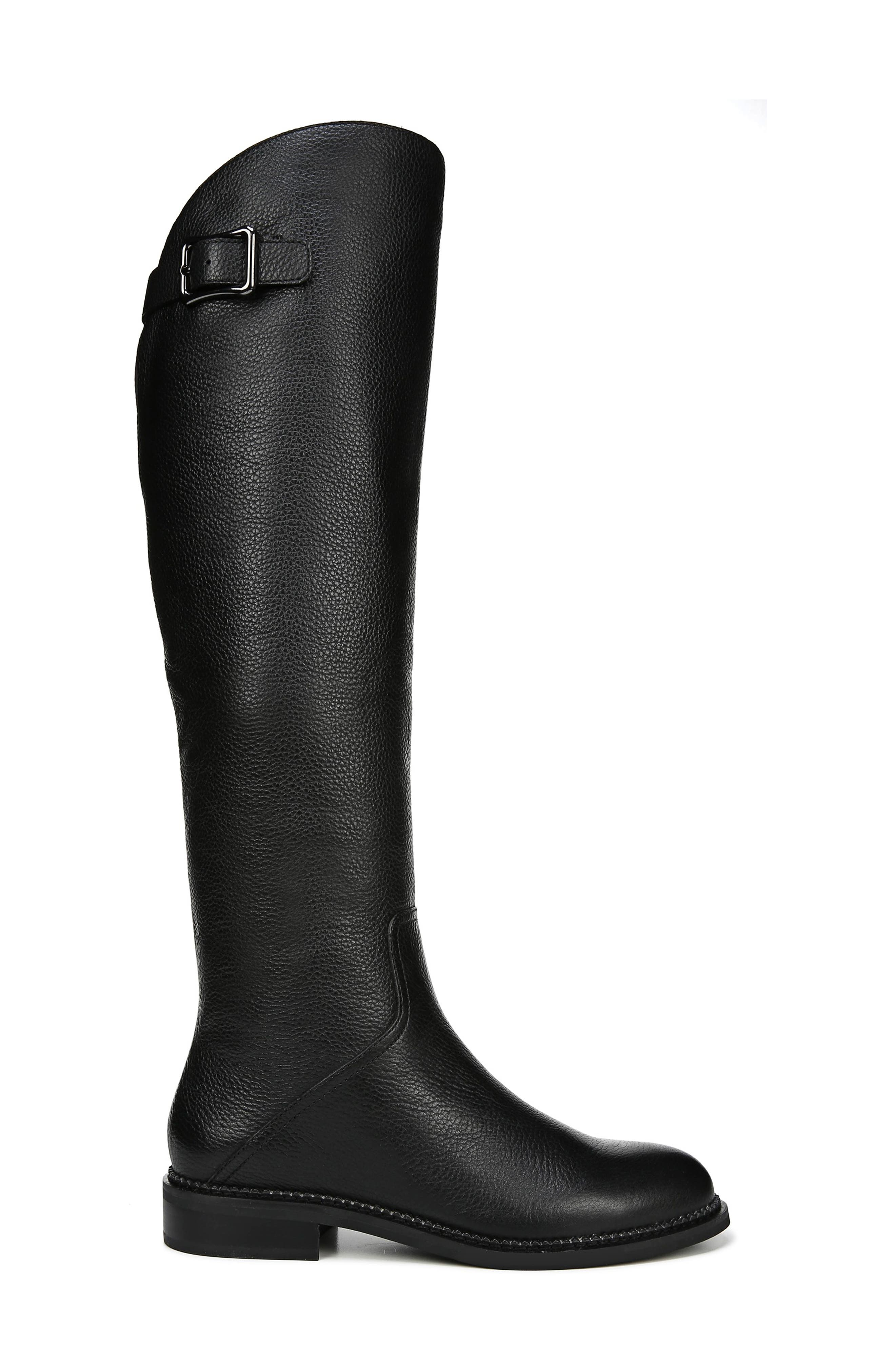 Halloway Knee High Boot,                             Alternate thumbnail 3, color,                             BLACK LEATHER