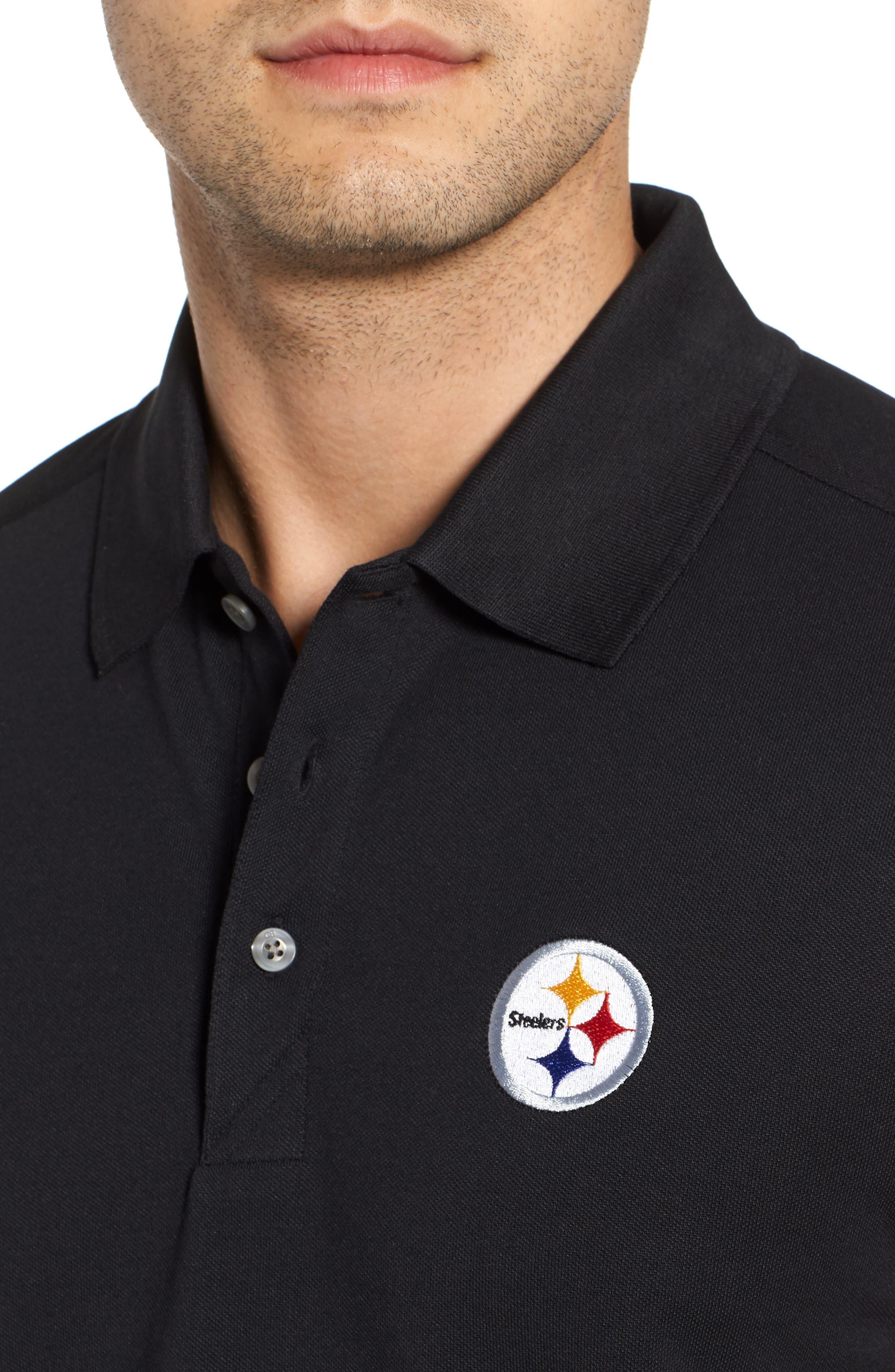 Pittsburgh Steelers - Advantage Regular Fit DryTec Polo,                             Alternate thumbnail 4, color,                             001
