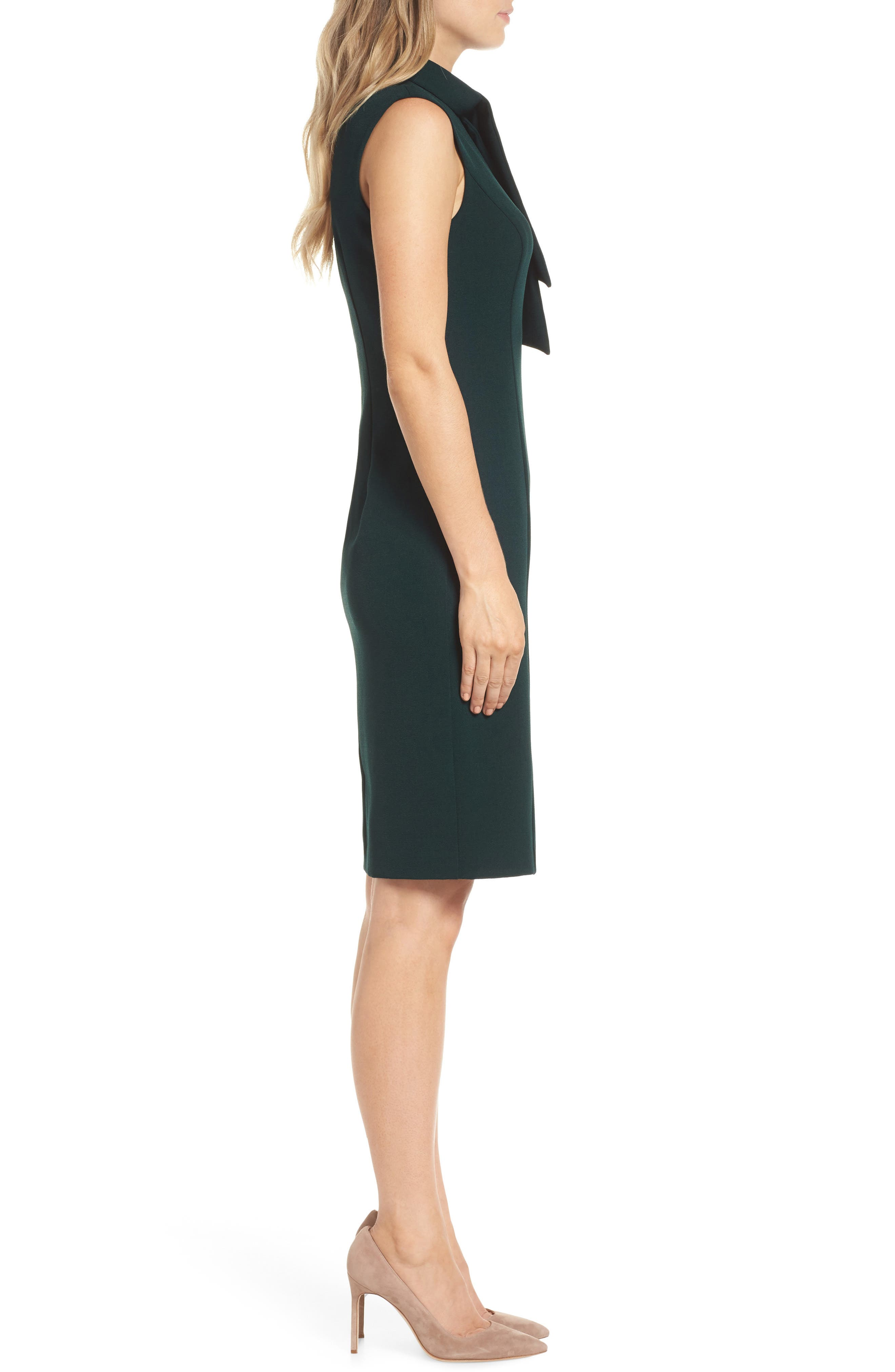 HARPER ROSE,                             Tie Neck Sheath Dress,                             Alternate thumbnail 4, color,                             302