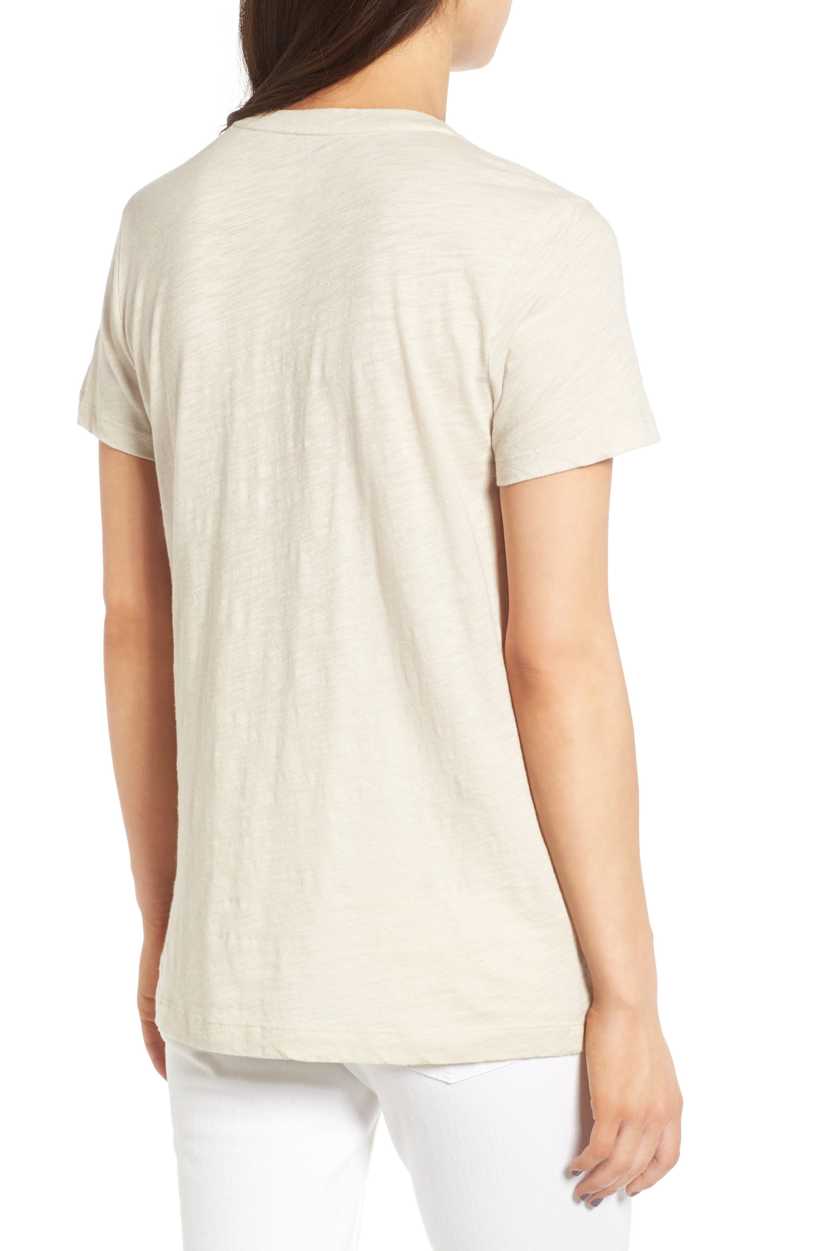 Whisper Cotton V-Neck Pocket Tee,                             Alternate thumbnail 53, color,