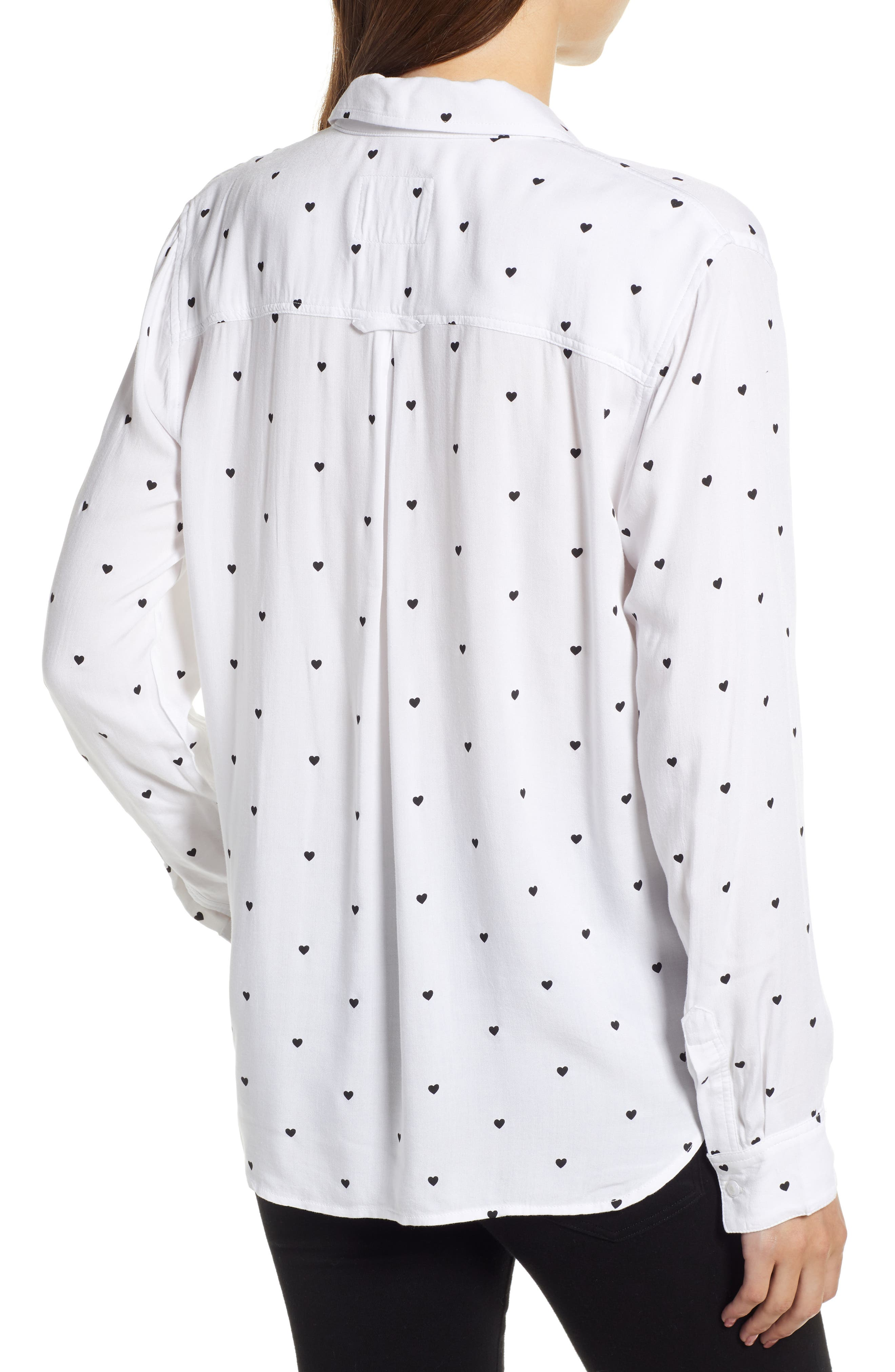 Rocsi Heart Print Shirt,                             Alternate thumbnail 2, color,                             100