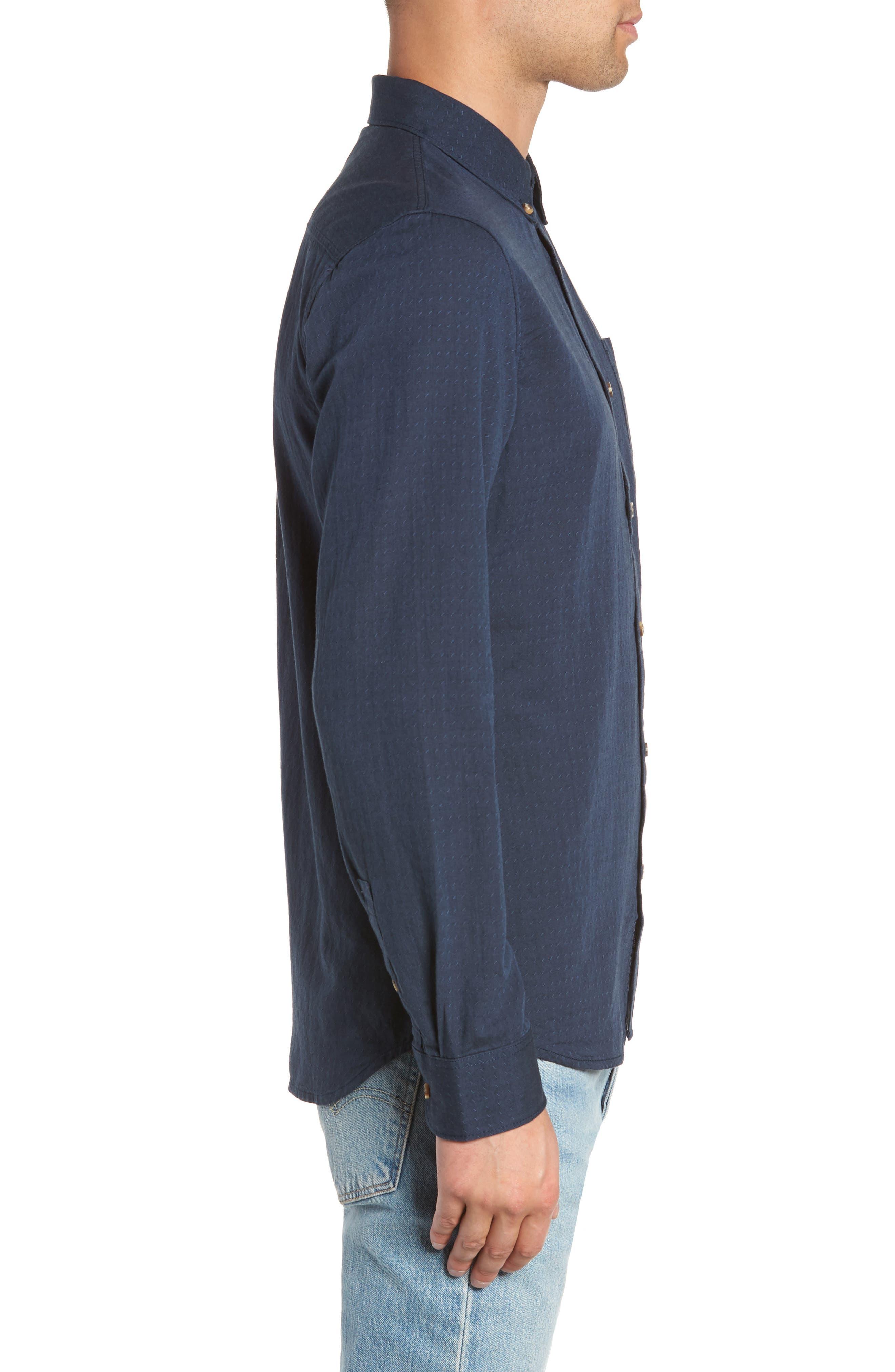 Wakefield Woven Shirt,                             Alternate thumbnail 4, color,                             DRESS BLUES