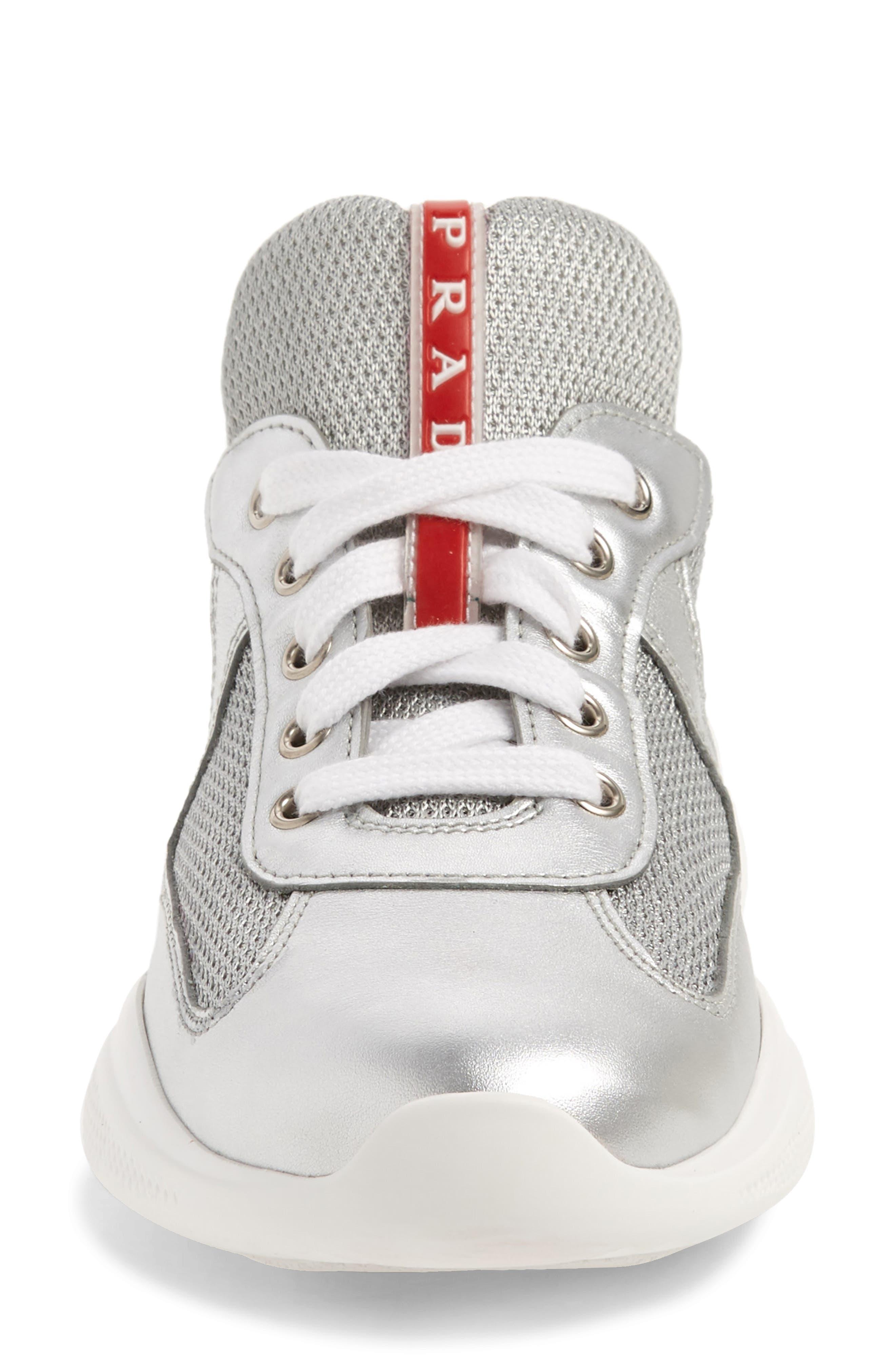 Low-Top Sneaker,                             Alternate thumbnail 4, color,                             METALLIC SILVER