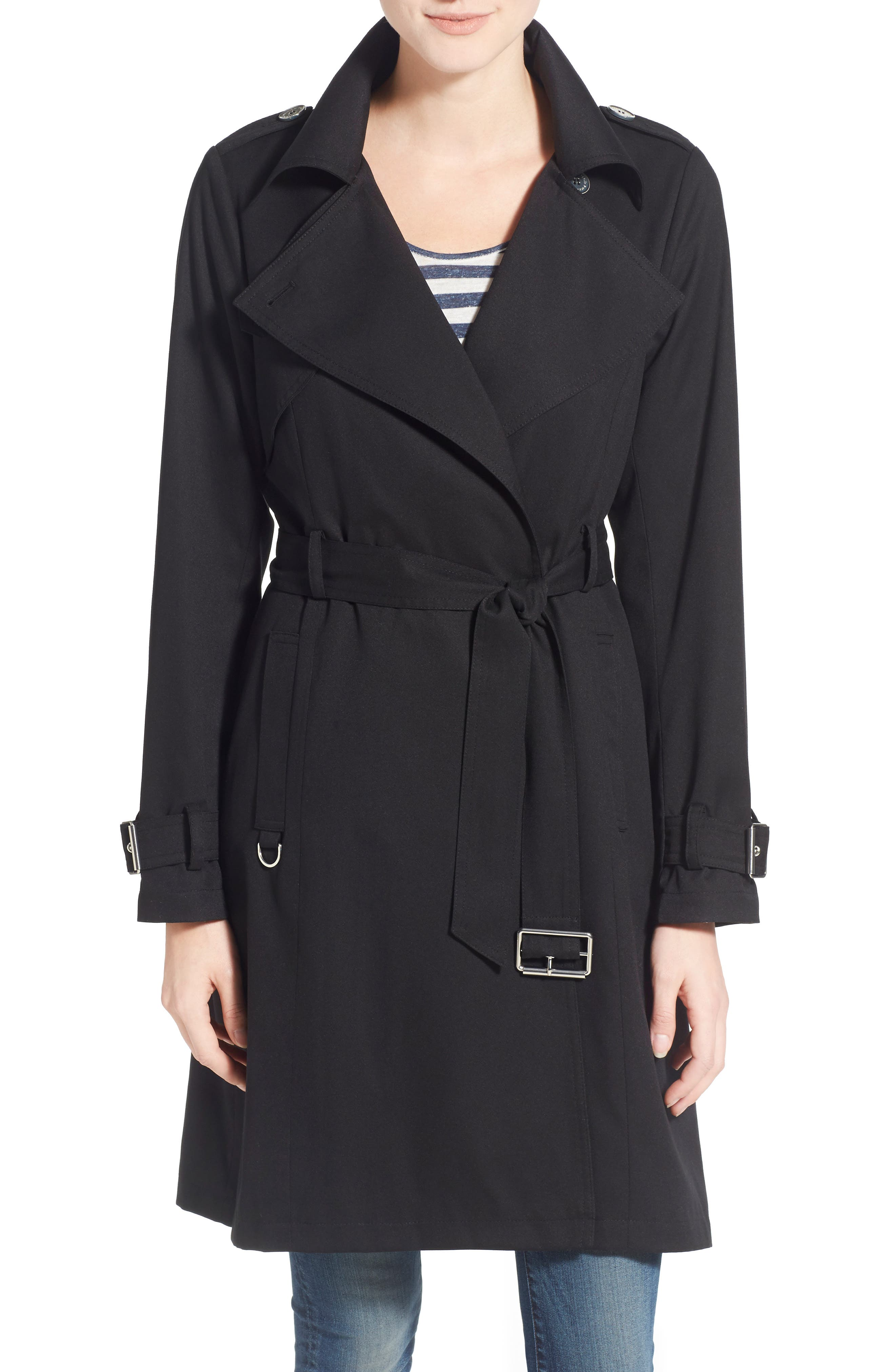 Flowy Belted Trench Coat,                             Main thumbnail 3, color,