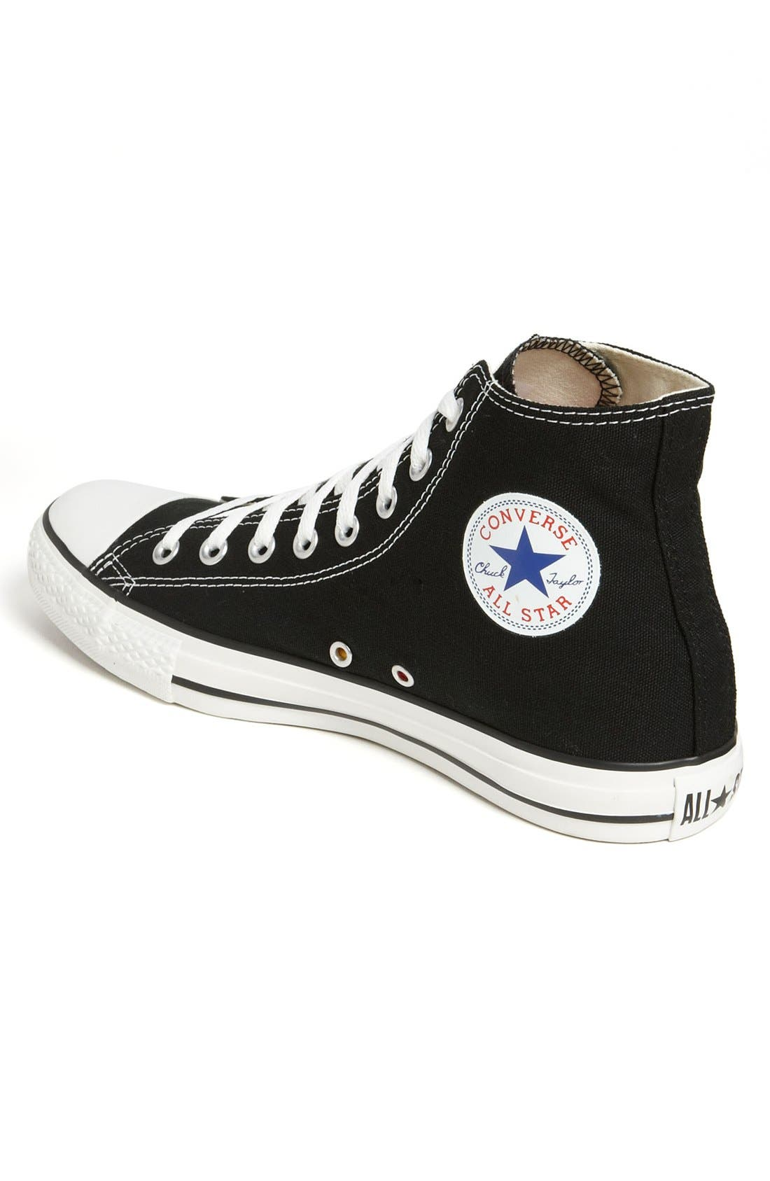 Chuck Taylor<sup>®</sup> High Top Sneaker,                             Alternate thumbnail 2, color,                             BLACK