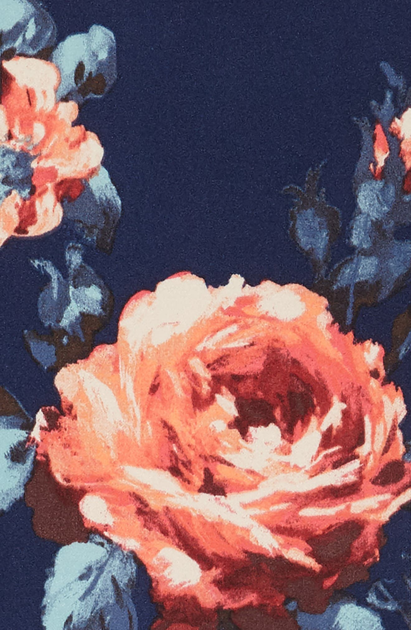 Floral Scuba Dress,                             Alternate thumbnail 3, color,