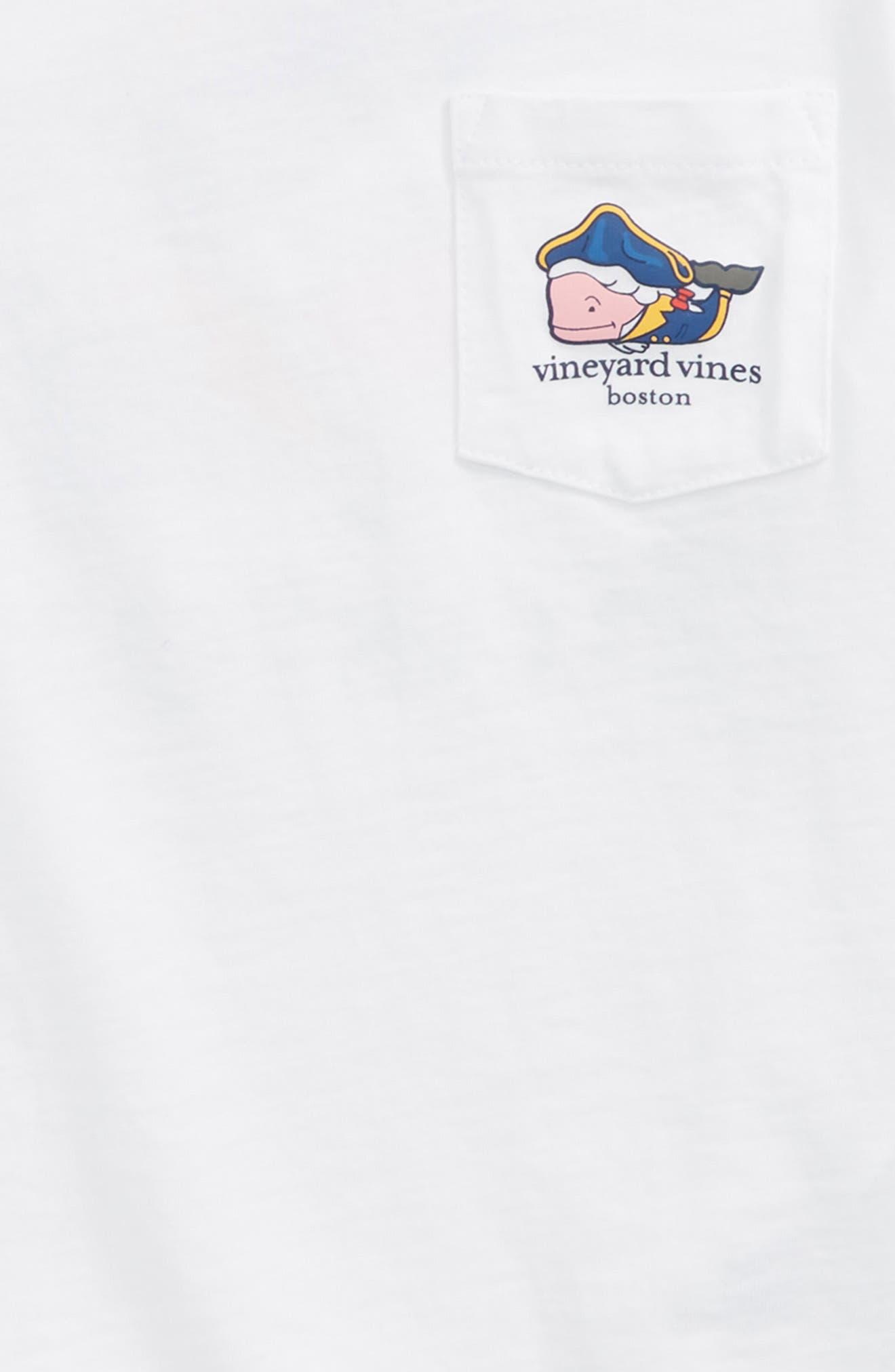 Boston Whale Pocket T-Shirt,                             Alternate thumbnail 3, color,                             WHITE CAP