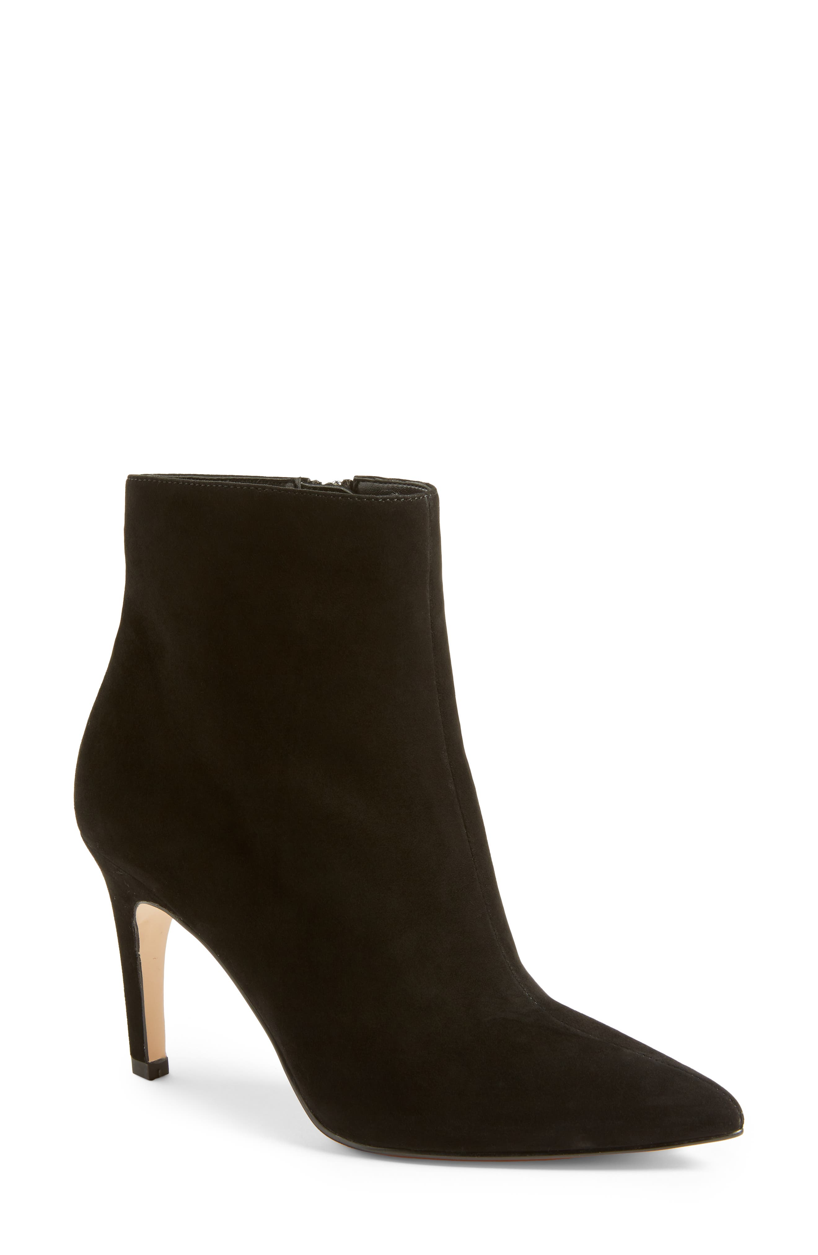 Macee Bootie,                             Main thumbnail 1, color,                             BLACK SUEDE