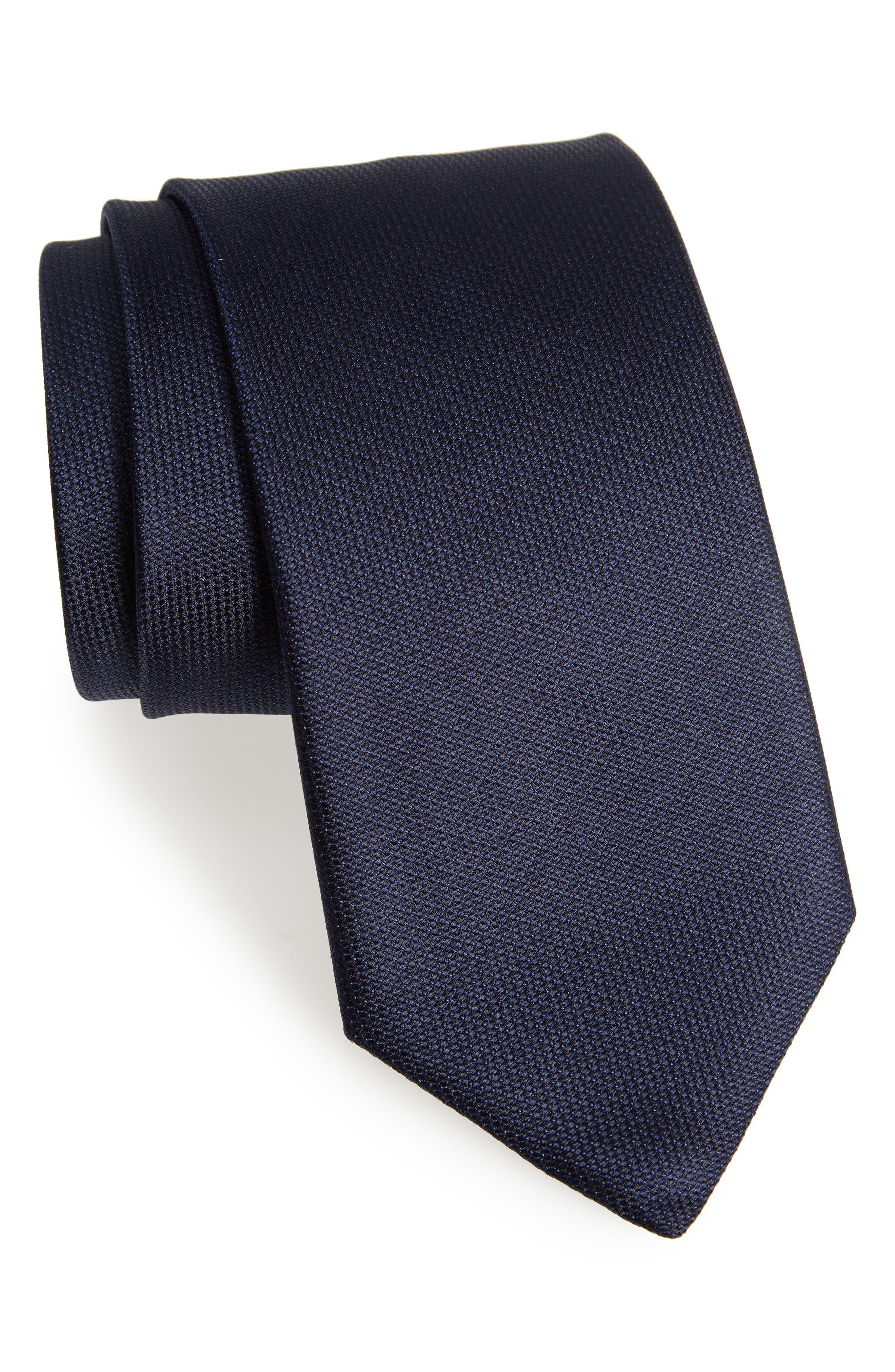 Solid Silk Tie,                         Main,                         color, 015