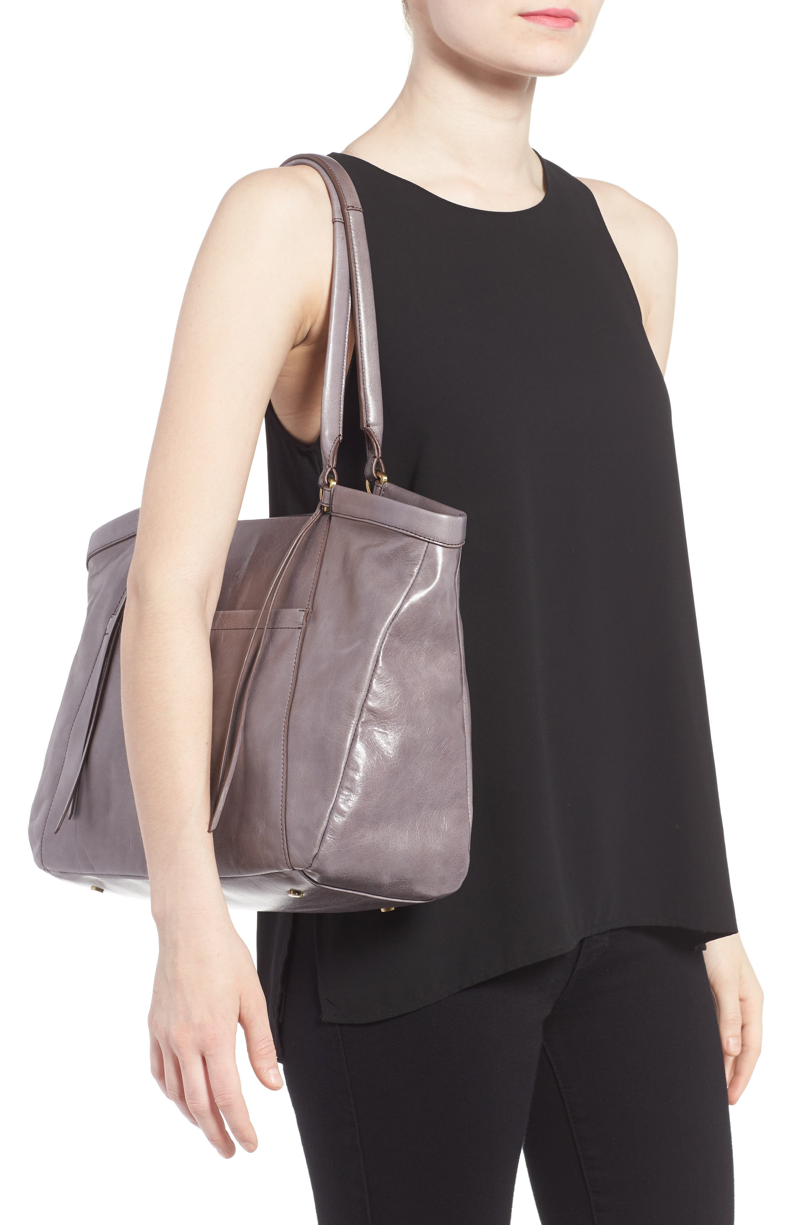 Maryanna Leather Tote,                             Alternate thumbnail 9, color,