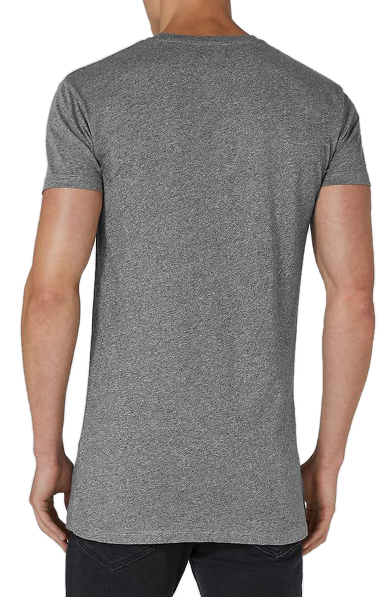 Muscle Fit Longline T-Shirt,                             Alternate thumbnail 2, color,                             020